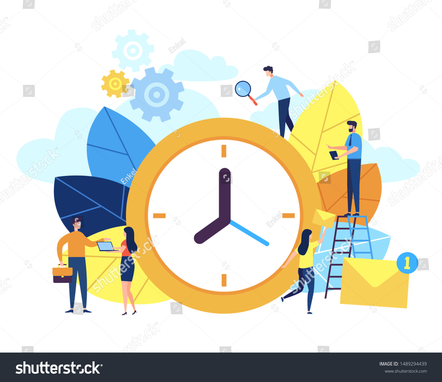 Concept Time Management Banner People Web Stock Vector Royalty Free 1489294439
