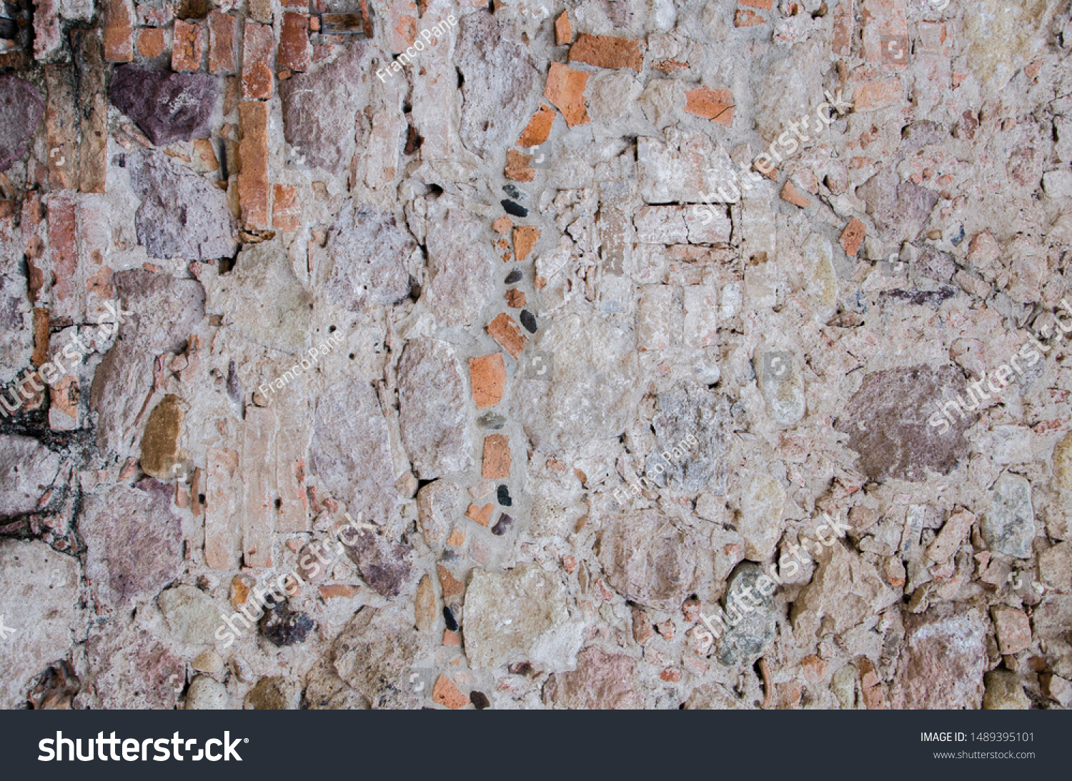 stone concrete and brick wall texture #1489395101