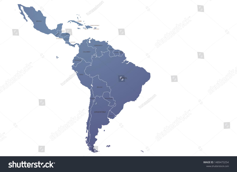 World Map Graphic Vector Latin America Stock Vector Royalty Free