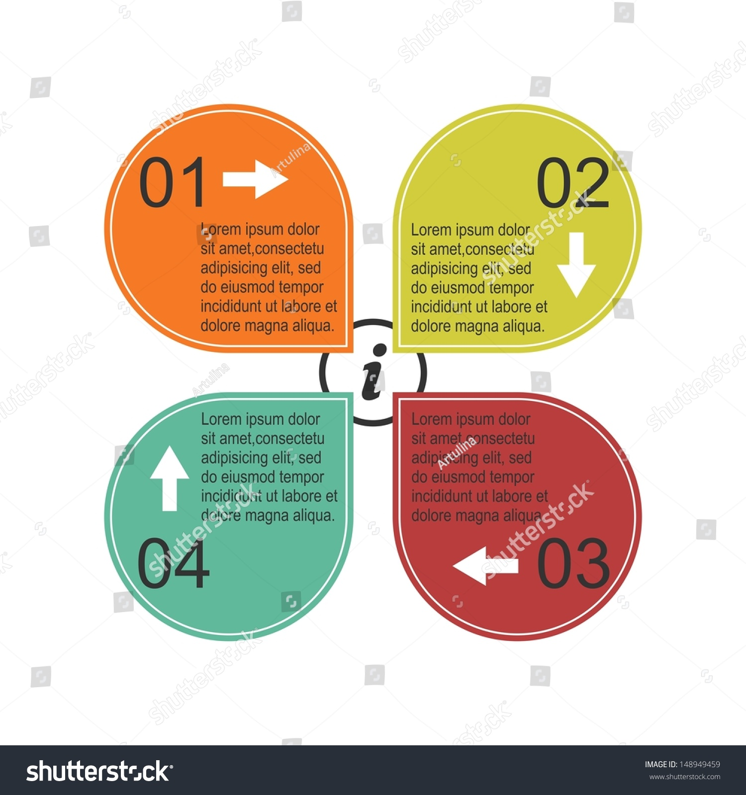 Infographic Poster Template Raster Version Stock ...