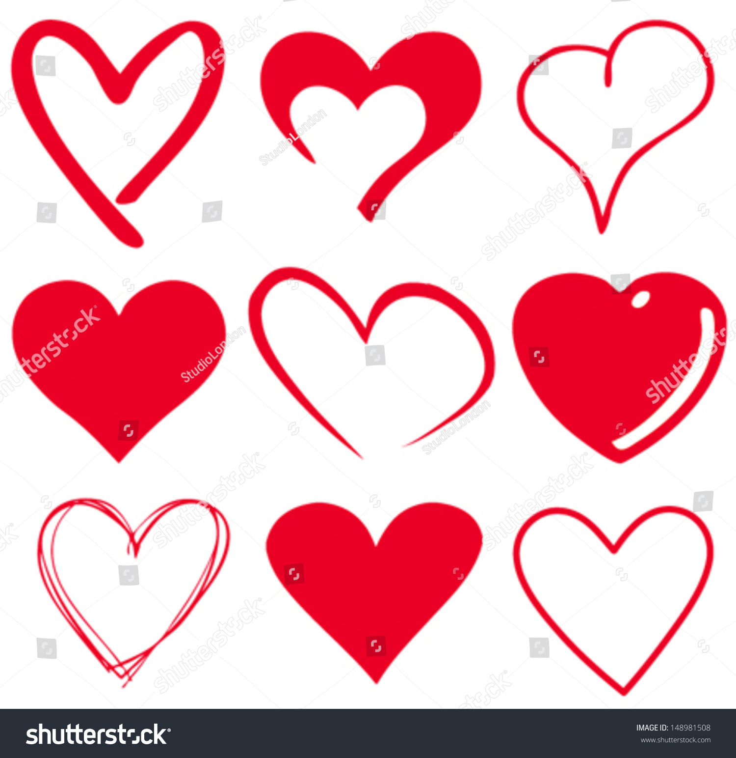 Vector heart silhouette