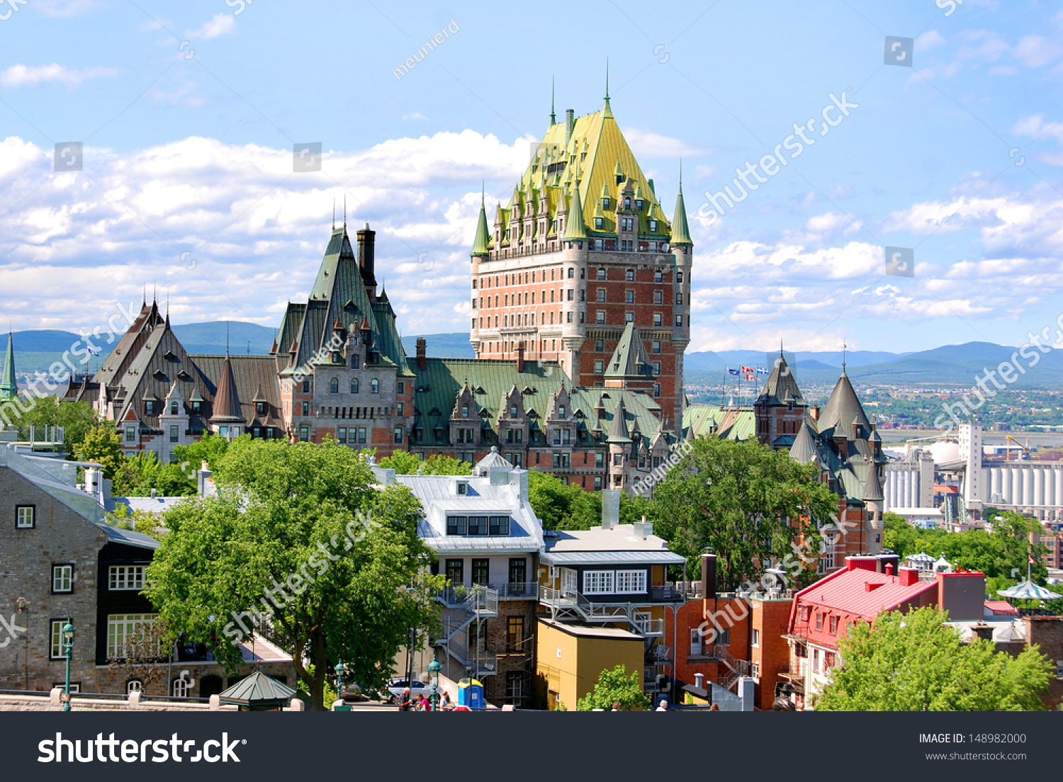 Quebec city canada august 25 dufferin stock photo for Terrace canada