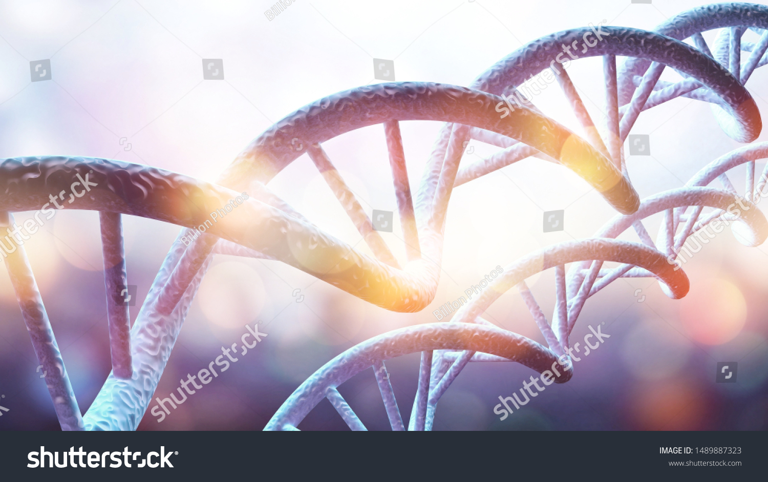 Science Biotechnology DNA illustration and abstract illustration #1489887323