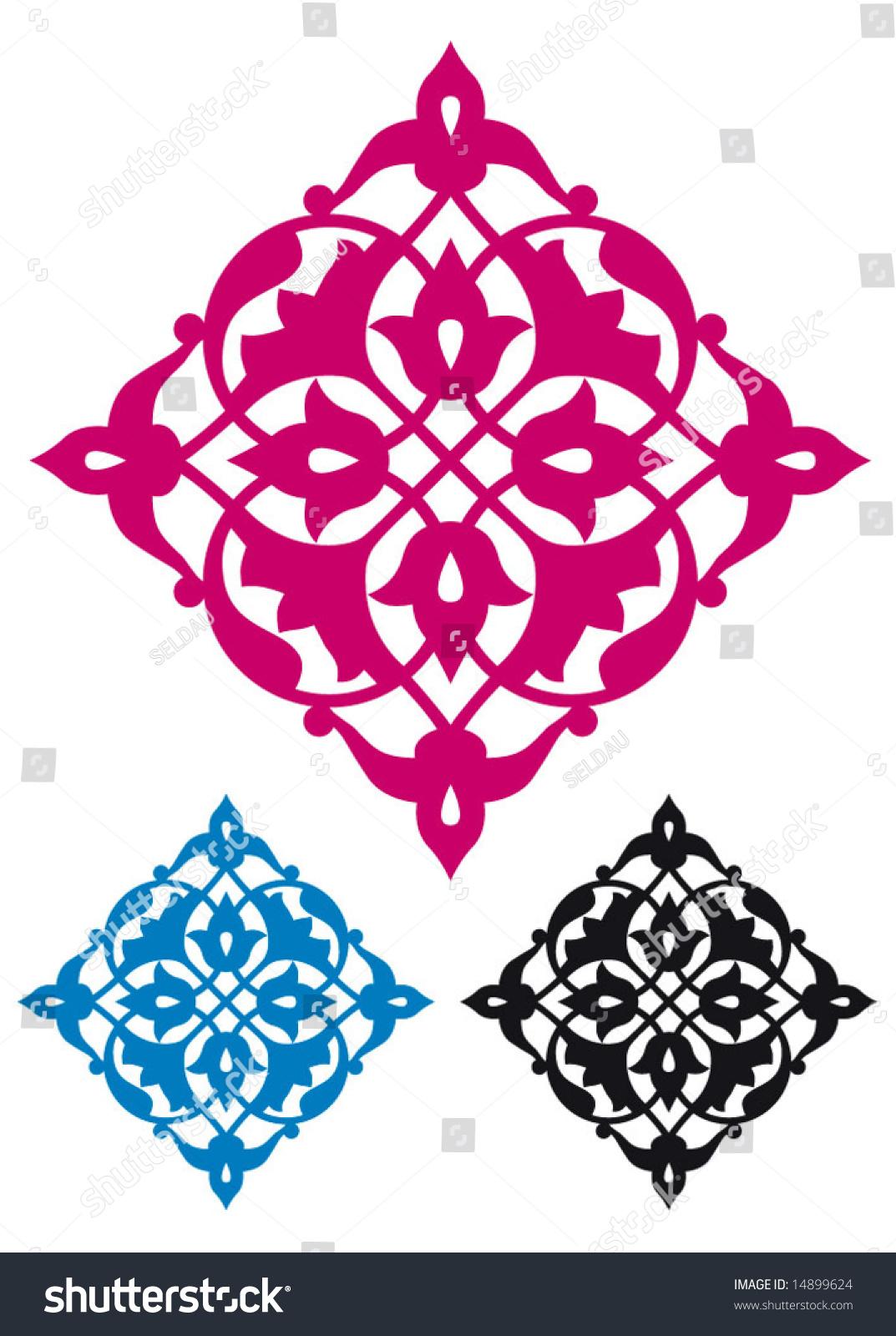 Turkish Design traditional ottoman turkish design stock vector 14899624