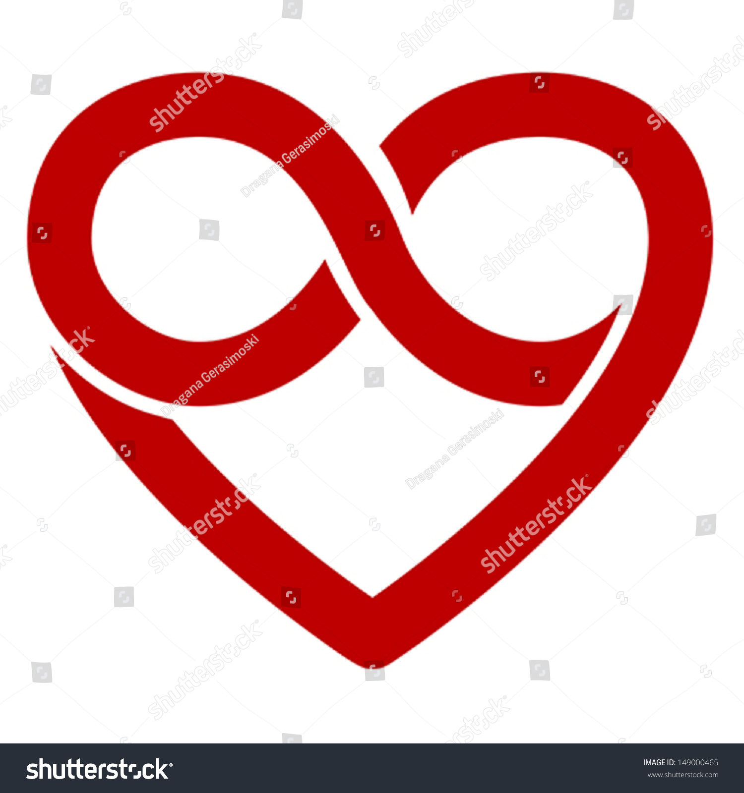 Infinity heart symbol love forever icon stock vector 149000465 infinity heart symbol love forever icon vector isolated on white biocorpaavc Images
