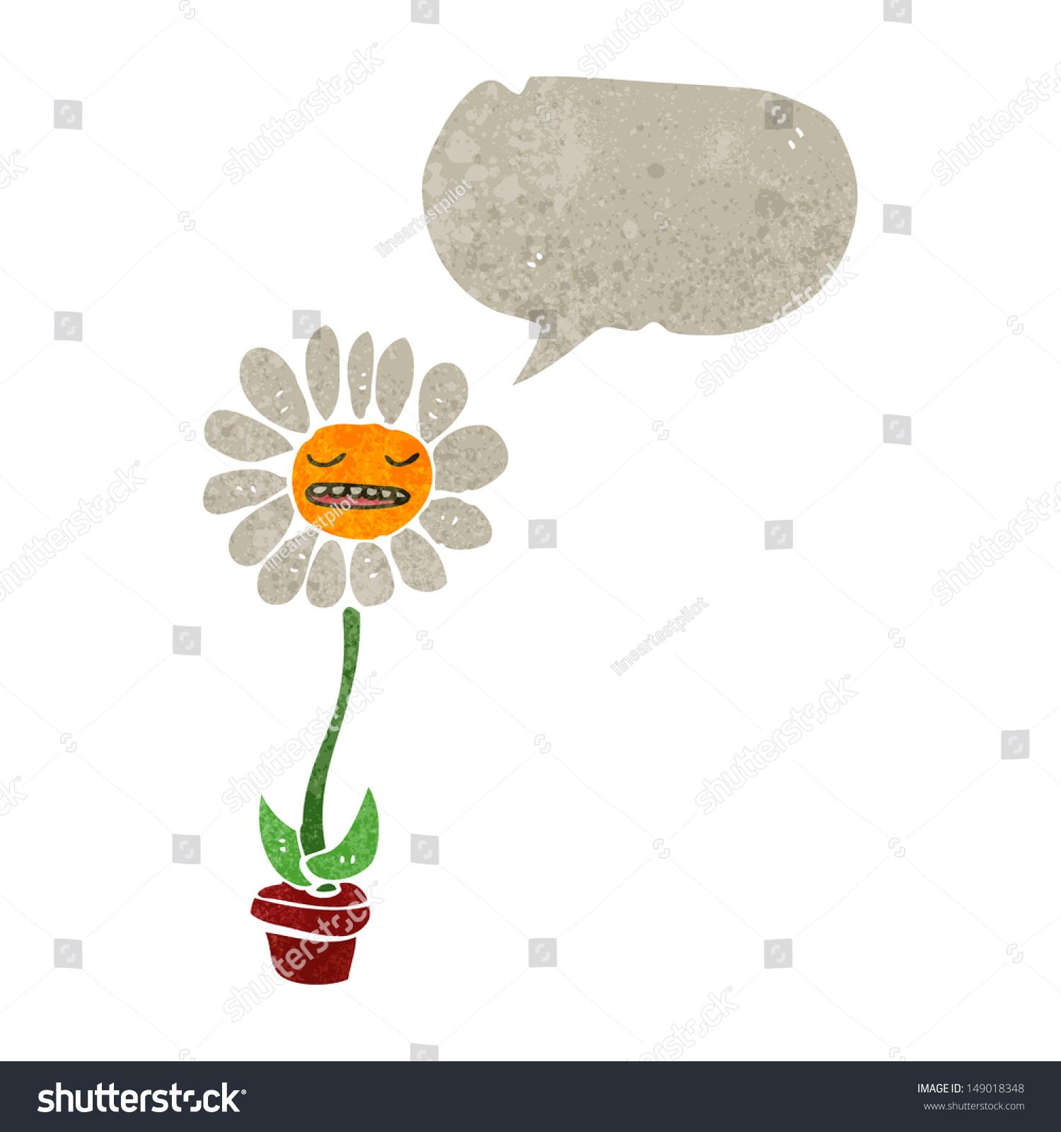 Retro cartoon daisy flower stock illustration 149018348 shutterstock retro cartoon daisy flower izmirmasajfo