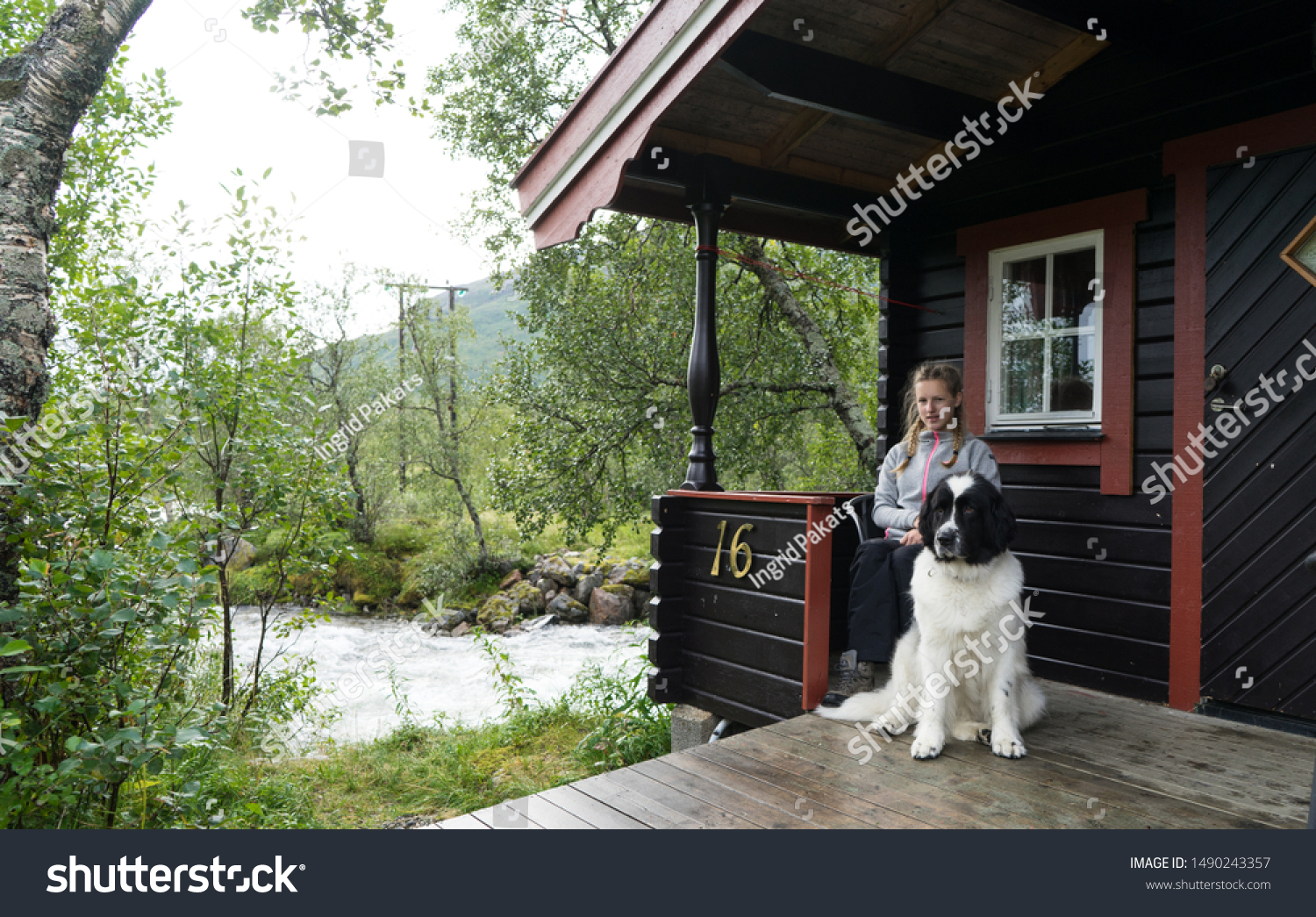 Gullesfjord Norway August 22 2018 Girl Royalty Free Stock Image