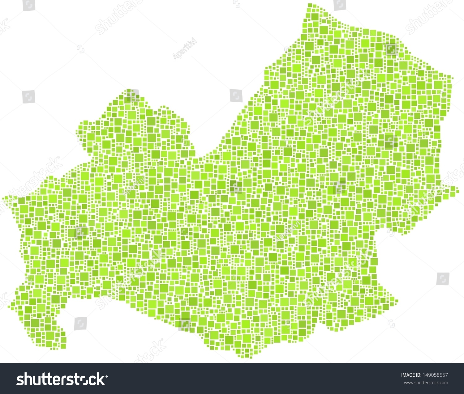 Decorative Map Molise Italy Mosaic Green Stock Vector 149058557