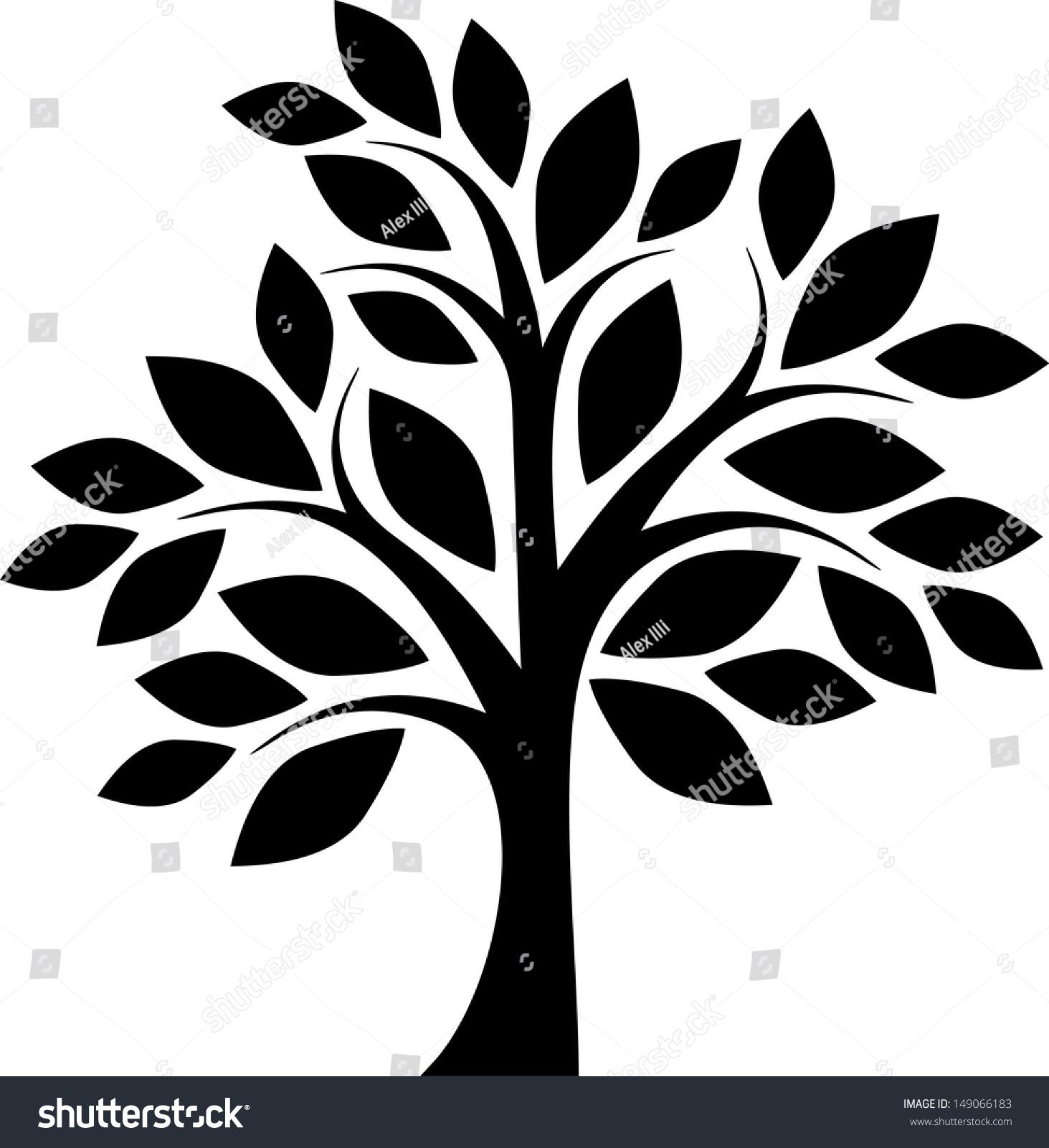 Decorative Simple Tree Stock Vector 149066183 - Shutterstock