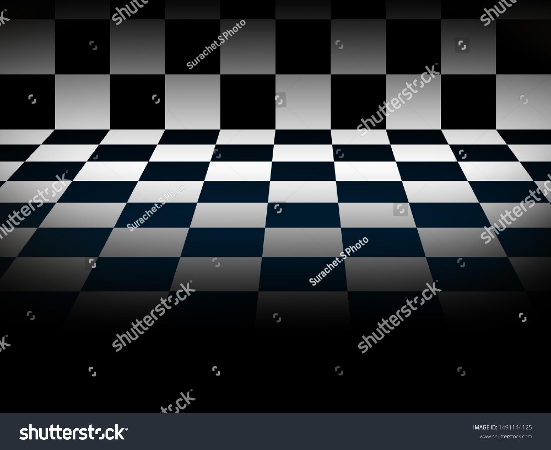 3d Chess Black White Dark Shadow Stock Illustration 1491144125