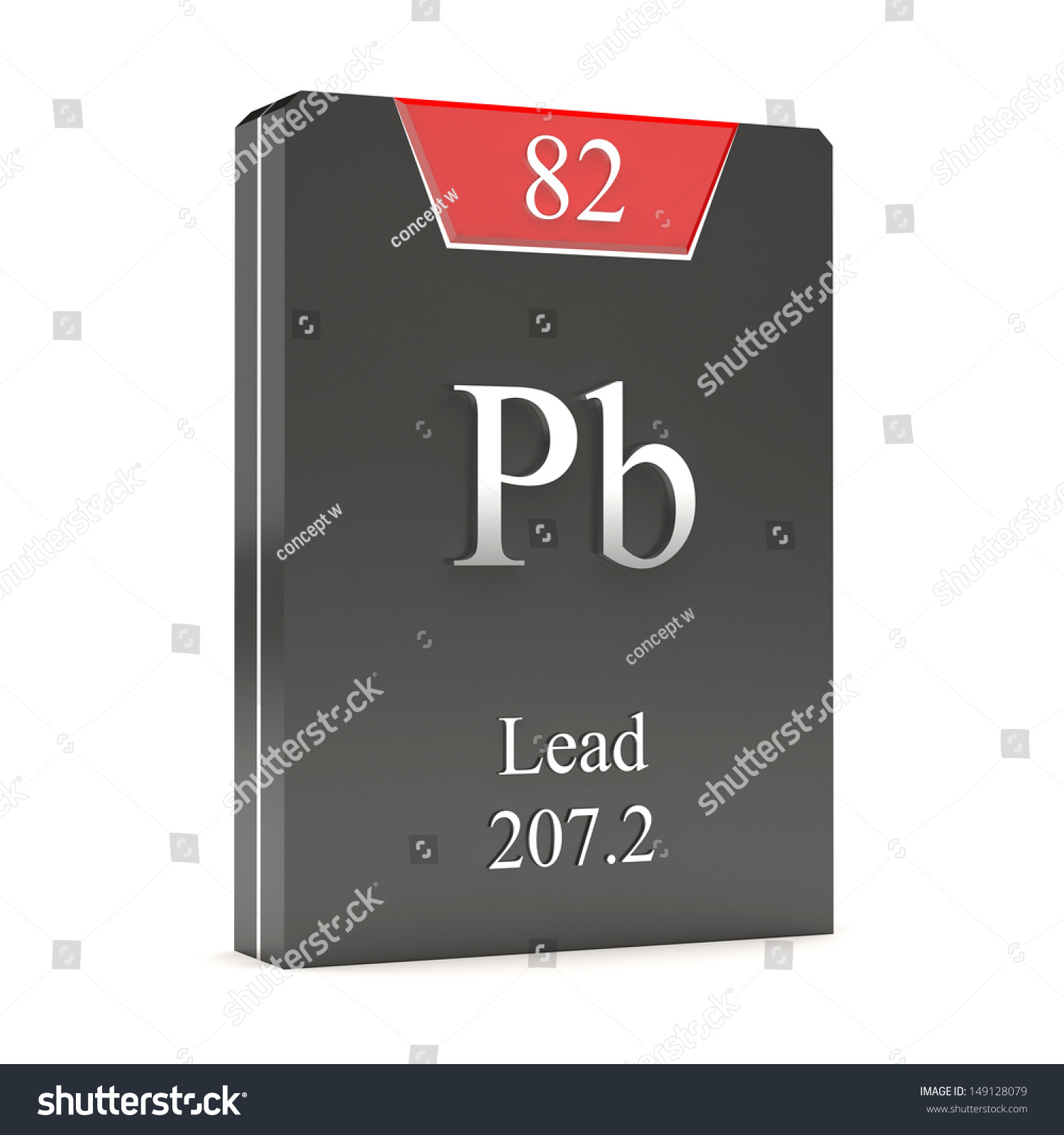 Lead Pb 82 Periodic Table Stock Illustration 149128079 Shutterstock