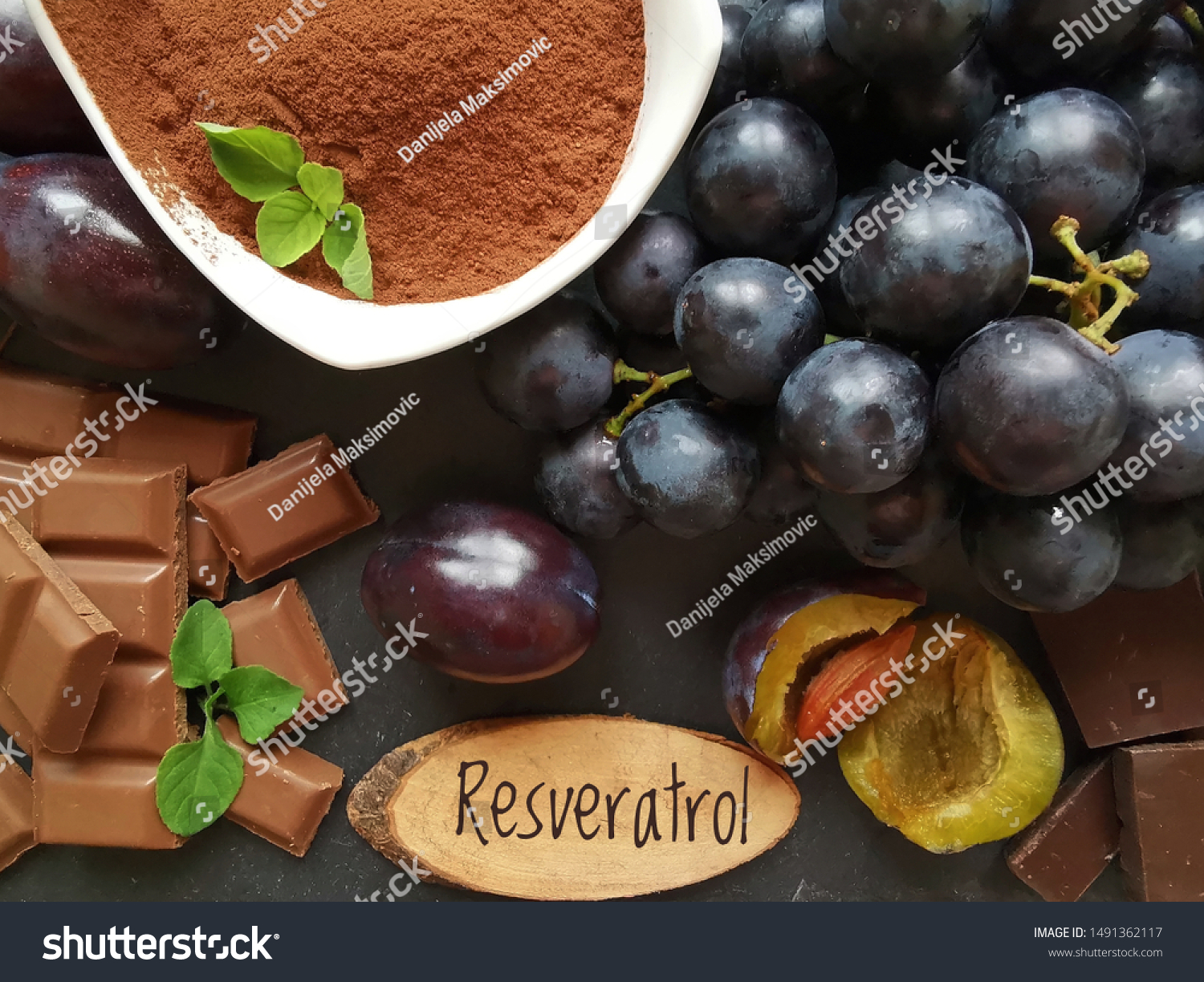 Foods Rich Resveratrol Resveratrol Powerful Antioxidant Stock Photo Edit Now 1491362117