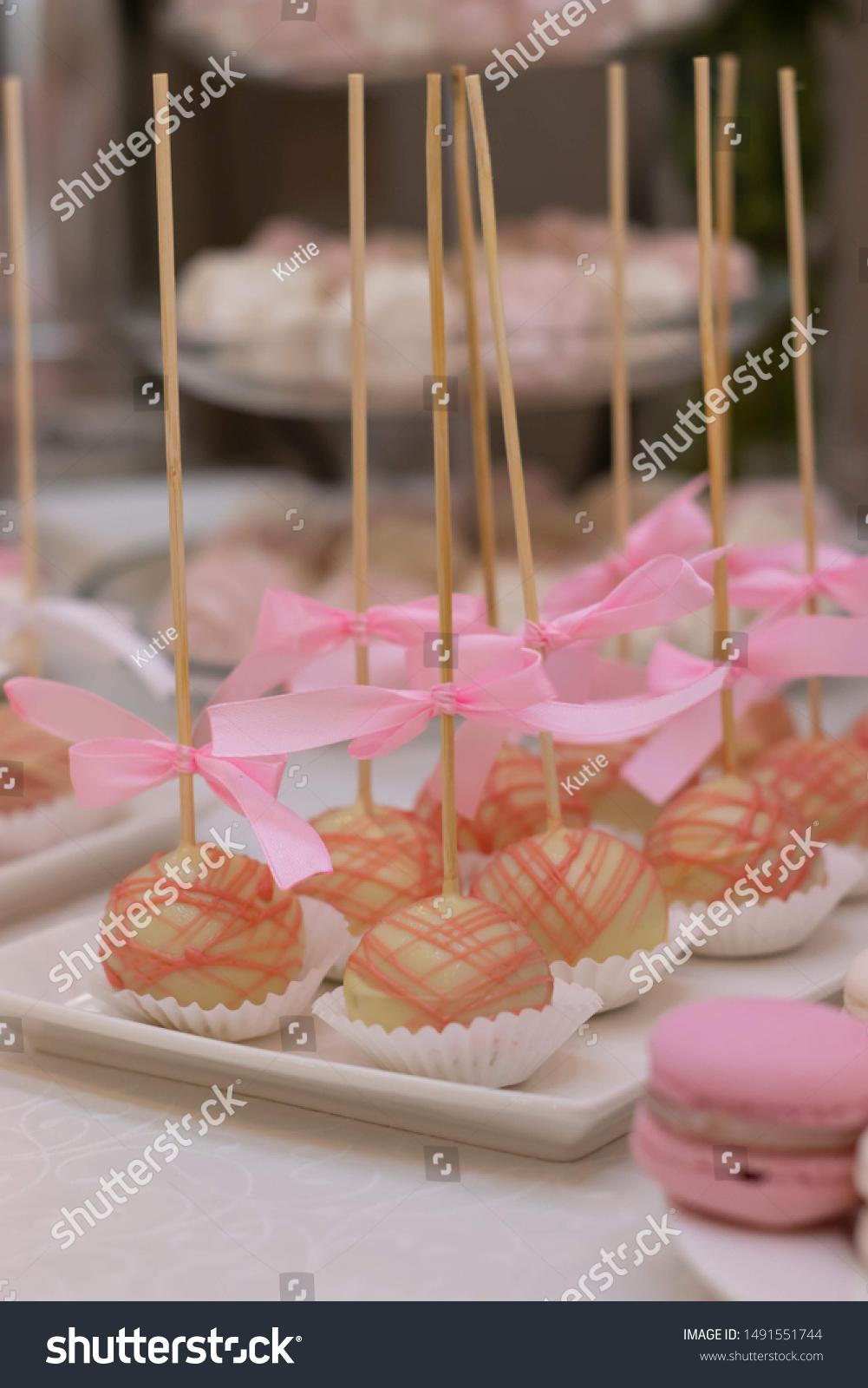 Macarons Sweet Desserts Wedding Wedding Sweet Food And Drink Stock Image 1491551744