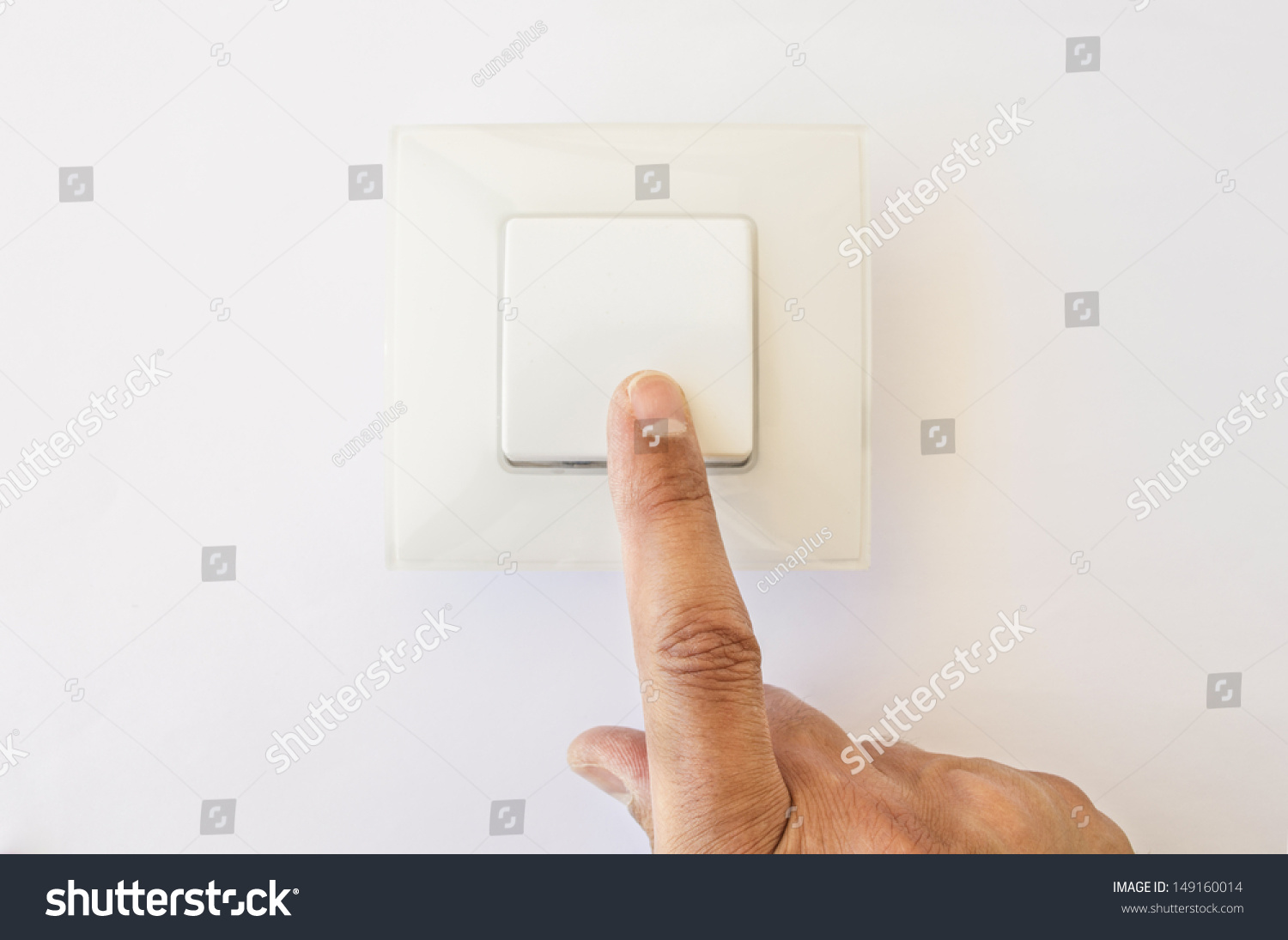 Modern Light Switch Being Flipped Off Stock Photo 149160014 ... for Light Switch Off Position  103wja