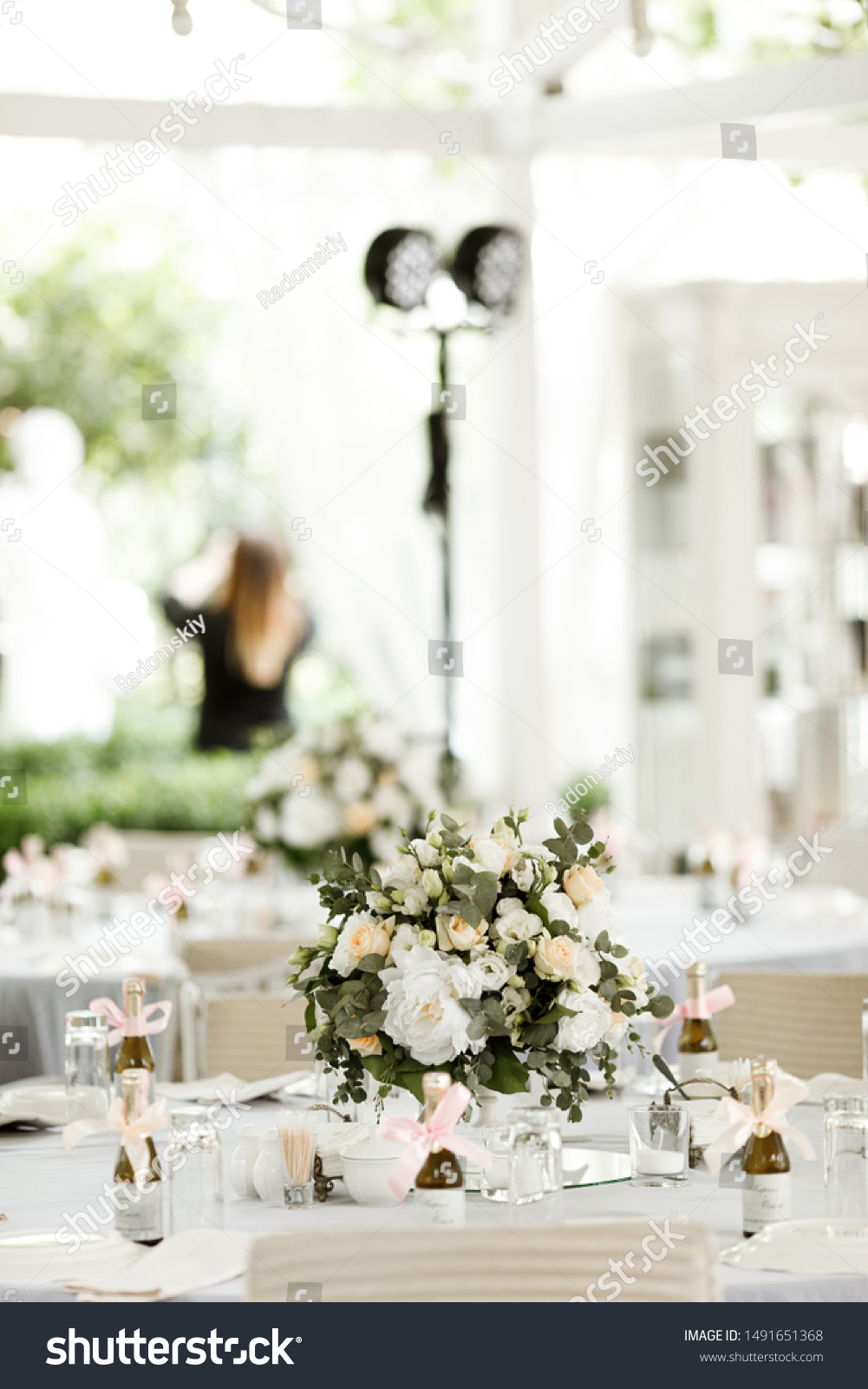 Square Wedding Ceremony Round Arch Decorated Stock Photo Edit Now