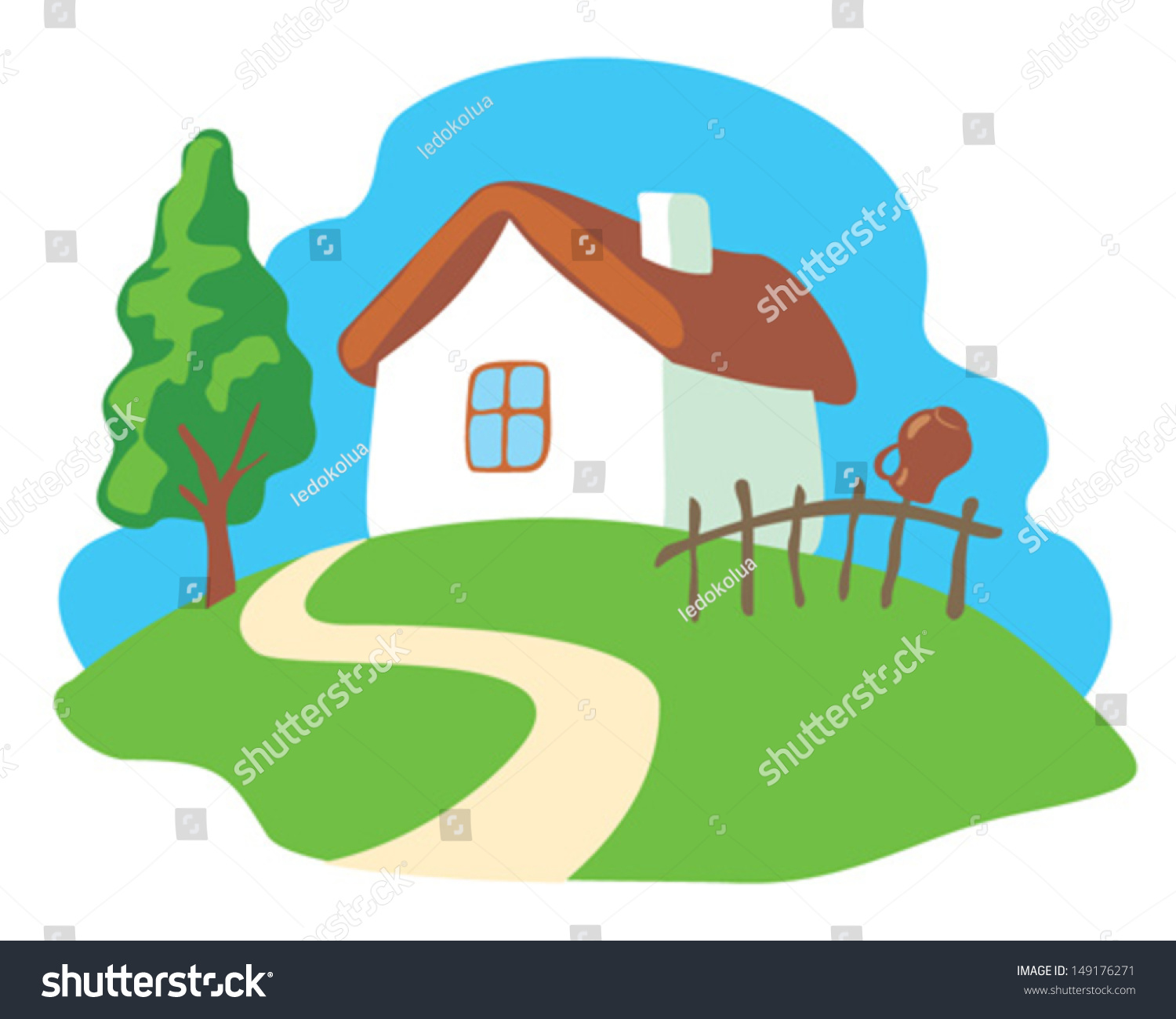 house on hill clipart - photo #32