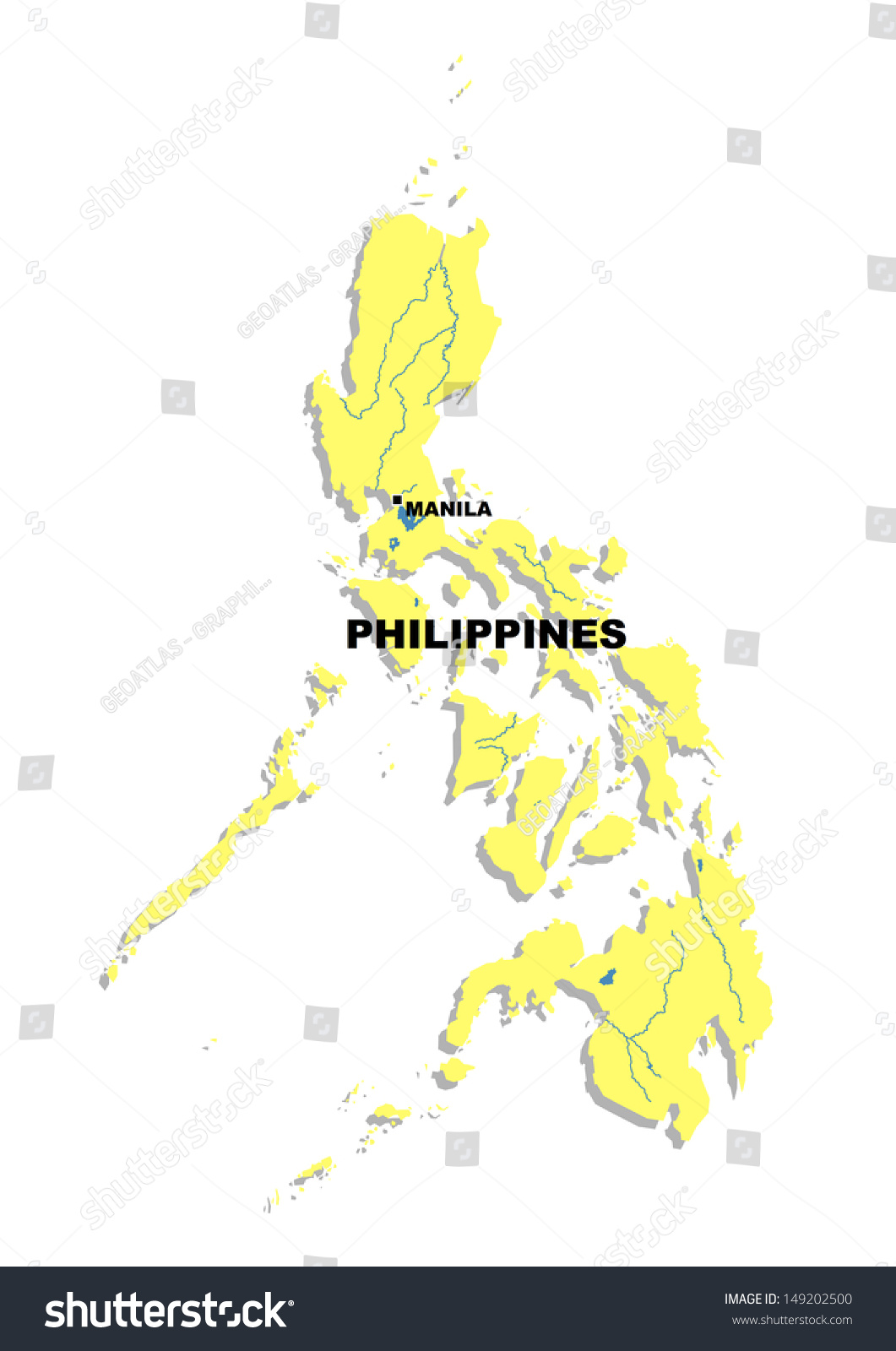 Simple Philippines Map.Royalty Free Stock Illustration Of Simple Map Philippines Stock