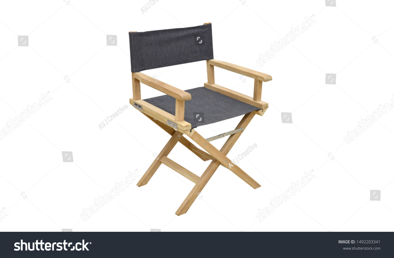 Admirable Single Folding Director Chair Furniture Isolated Stock Photo Onthecornerstone Fun Painted Chair Ideas Images Onthecornerstoneorg