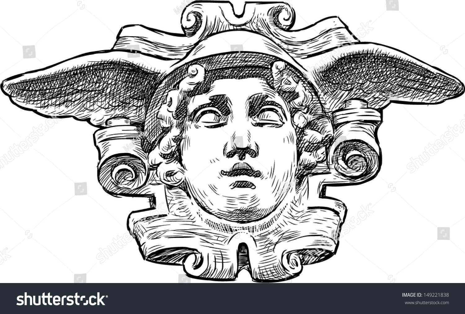 Head Hermes Stock Vector 149221838 - Shutterstock