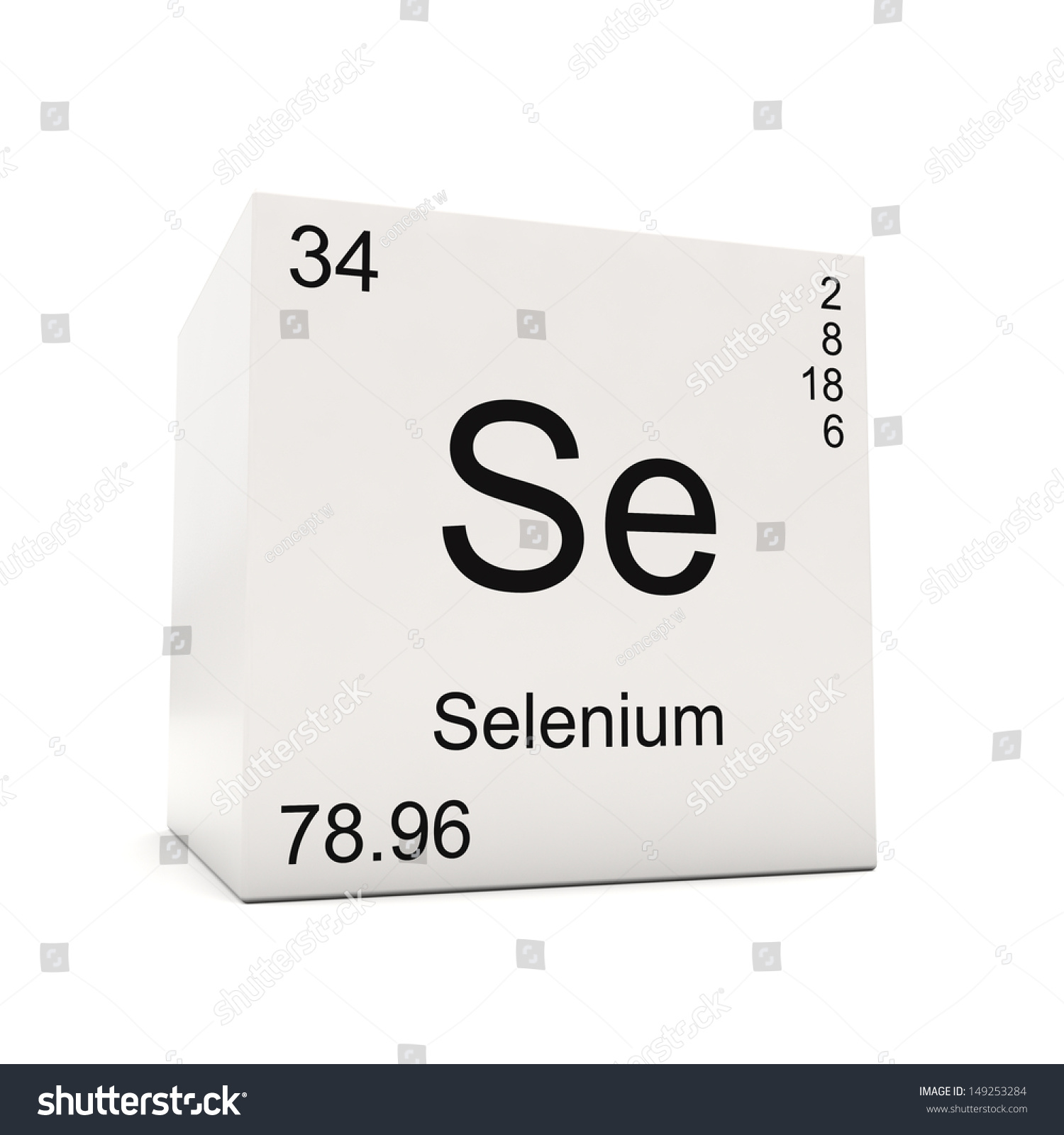 Cube selenium element periodic table isolated stock illustration cube of selenium element of the periodic table isolated on white background gamestrikefo Images