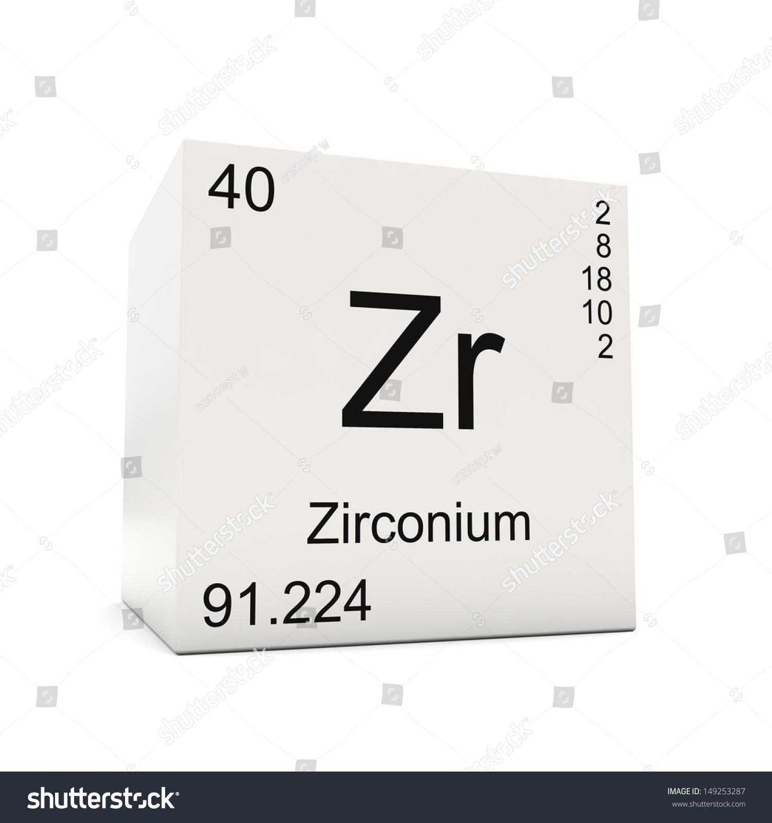 Cube zirconium element periodic table isolated stock illustration cube of zirconium element of the periodic table isolated on white background gamestrikefo Images