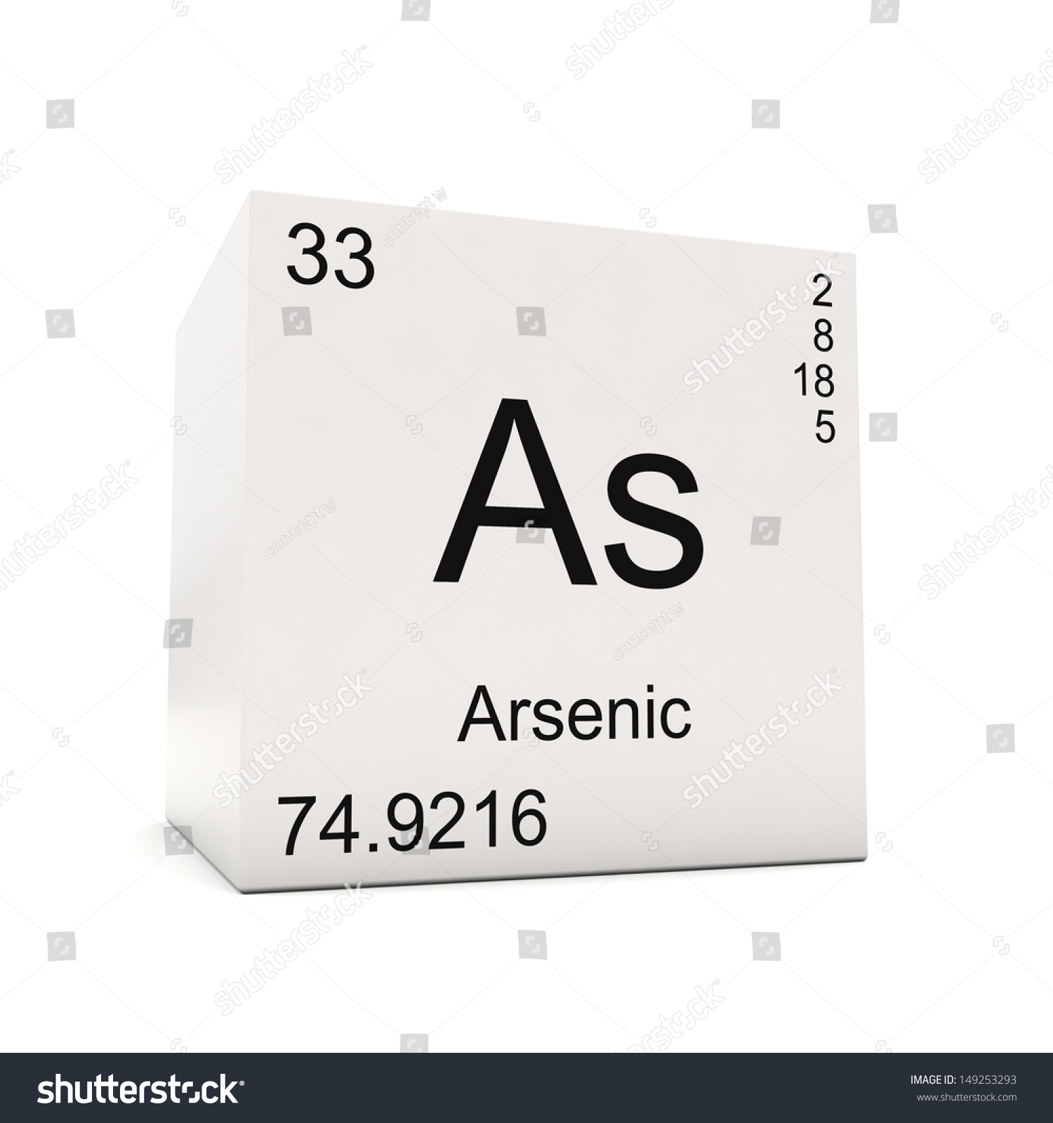 Cube arsenic element periodic table isolated stock illustration cube of arsenic element of the periodic table isolated on white background biocorpaavc Image collections