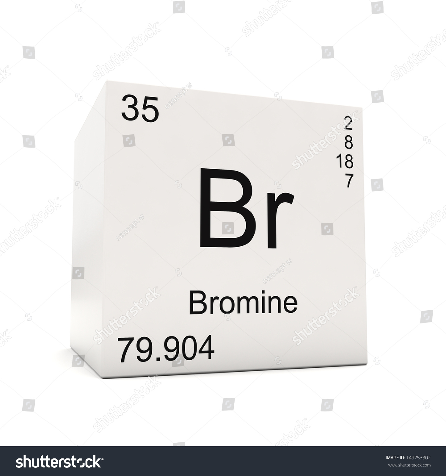 Cube bromine element periodic table isolated stock illustration cube of bromine element of the periodic table isolated on white background gamestrikefo Choice Image