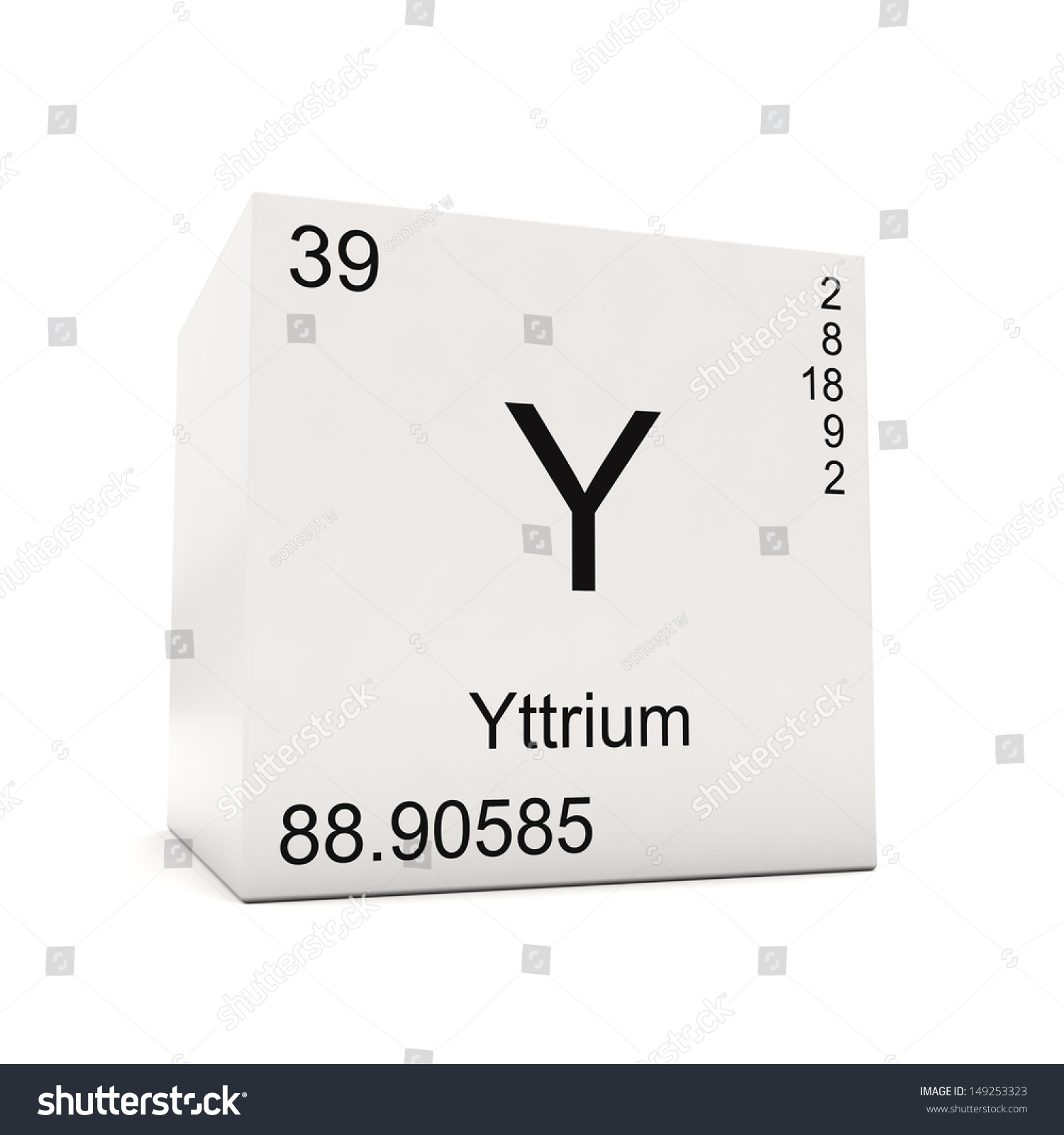 Cube yttrium element periodic table isolated stock illustration cube of yttrium element of the periodic table isolated on white background urtaz Images