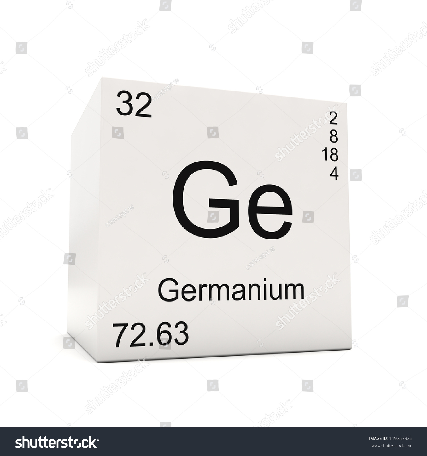 Germanium in periodic table choice image periodic table images germanium in periodic table choice image periodic table images cube germanium element periodic table isolated stock gamestrikefo Image collections