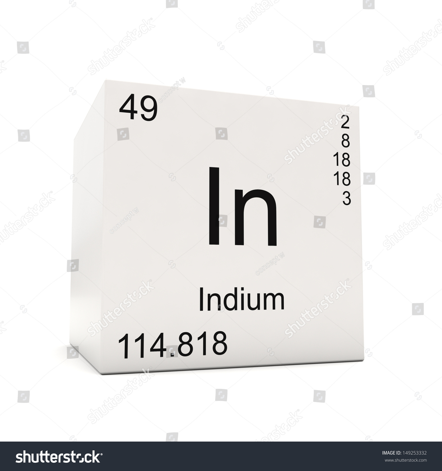 Indium on the periodic table image collections periodic table images cube indium element periodic table isolated stock illustration cube of indium element of the periodic table gamestrikefo Image collections
