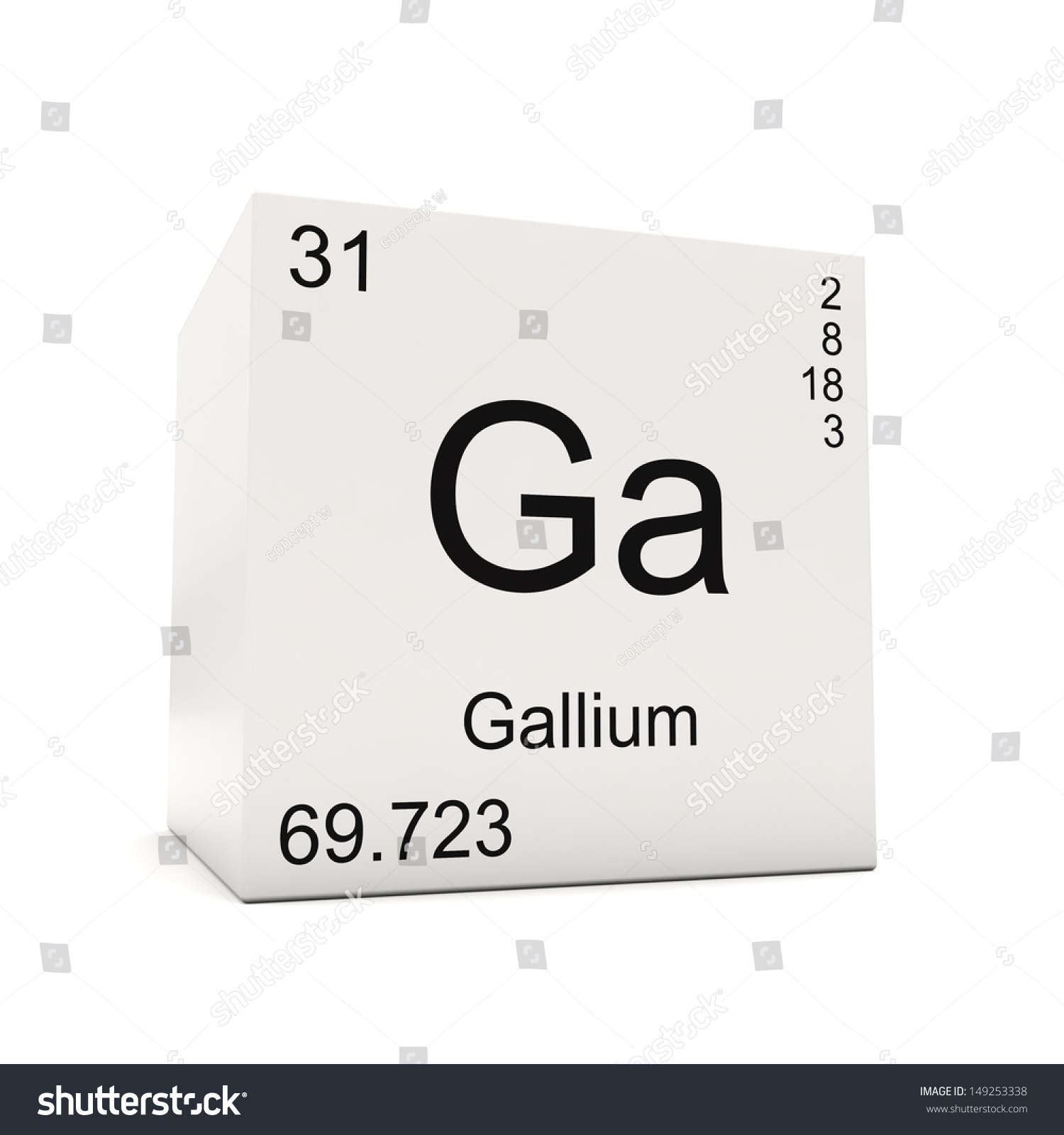 Cube gallium element periodic table isolated stock illustration cube of gallium element of the periodic table isolated on white background gamestrikefo Image collections
