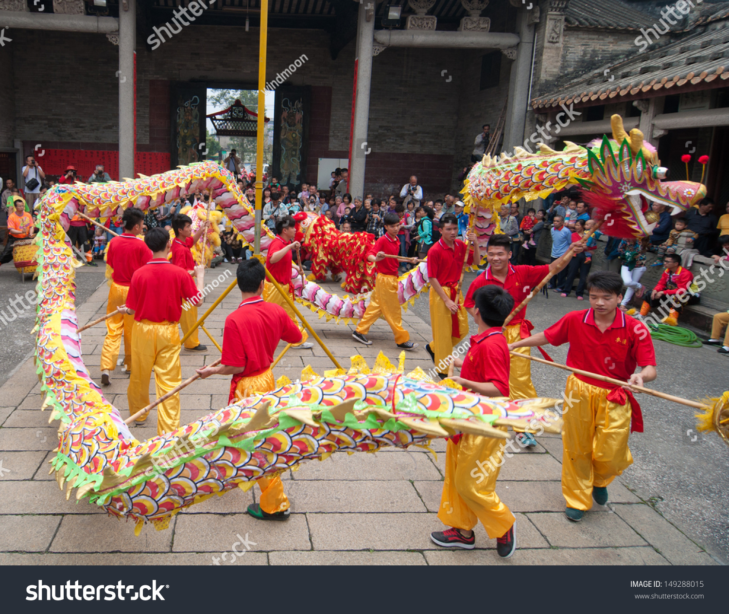 foshan citymarch 22 in 2013 dragon dance stock photo royalty free