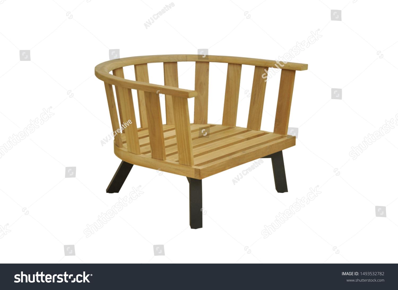 Magnificent Arm Chair Natural Wood Outdoor Exterior Stock Photo Edit Creativecarmelina Interior Chair Design Creativecarmelinacom