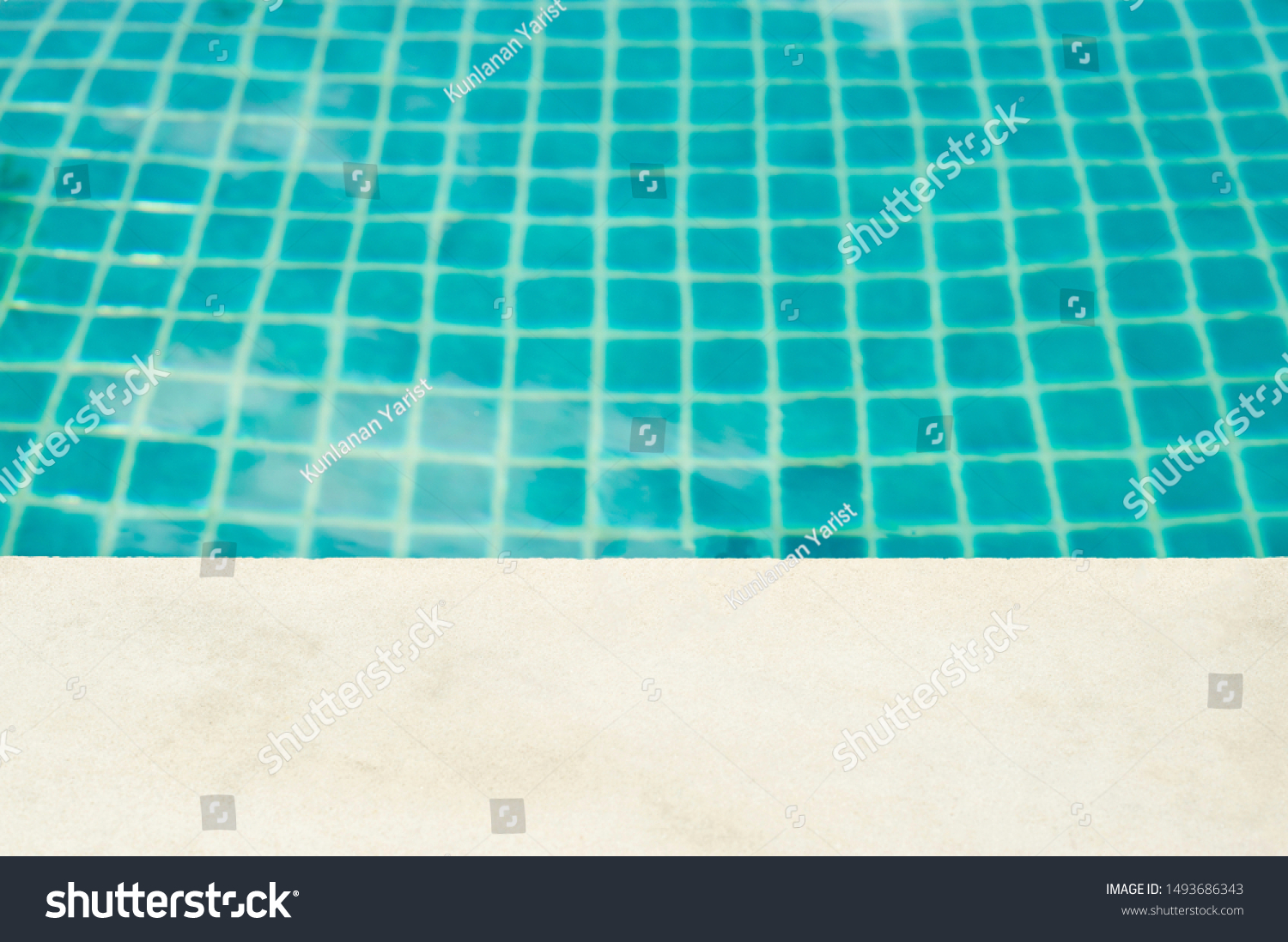 Swimming Pool Side Top View Ideas Stock Photo Edit Now 1493686343