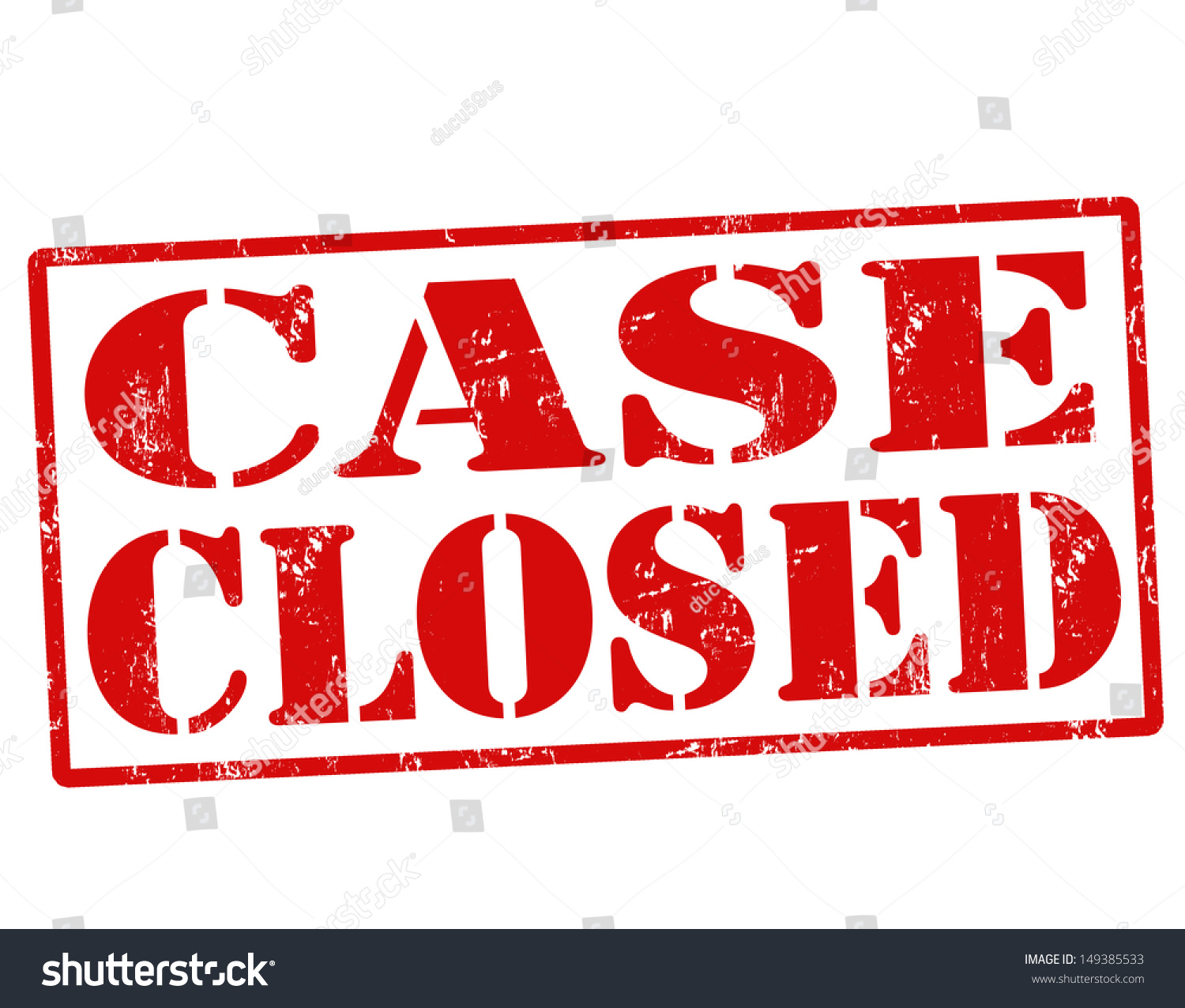 Case Closed Red Grunge Rubber Stamp Stock Vector 149385533
