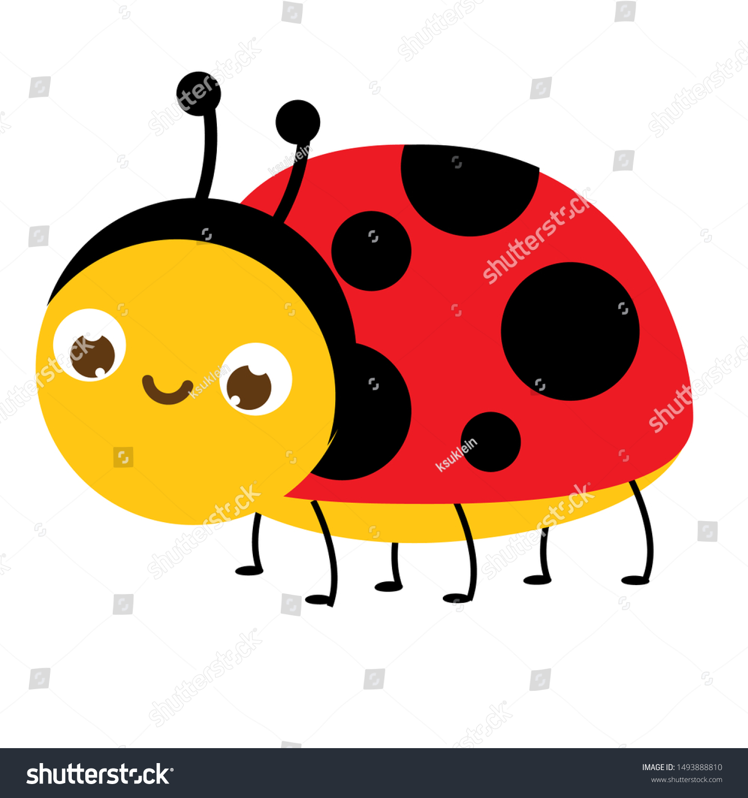 A Cartoon Ladybug cartoon ladybug cute ladybird insect character | royalty