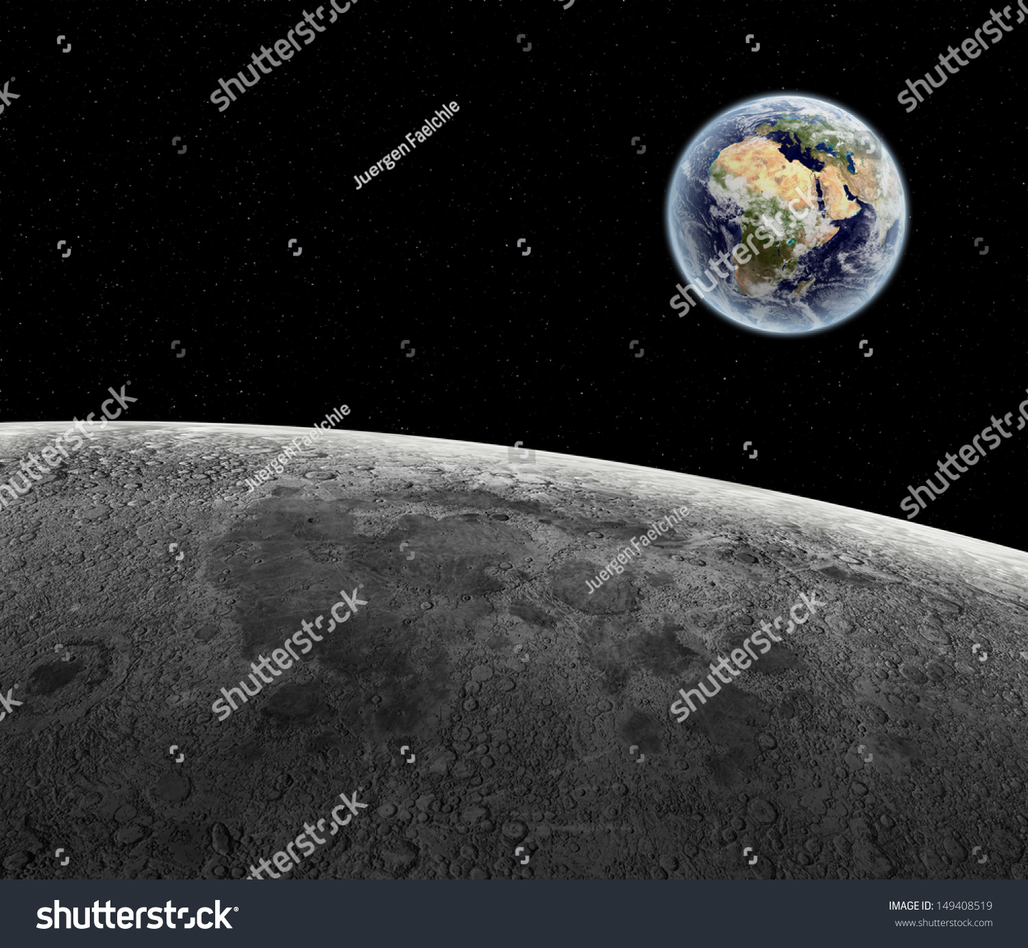 surface of moon as seen from earth - photo #15