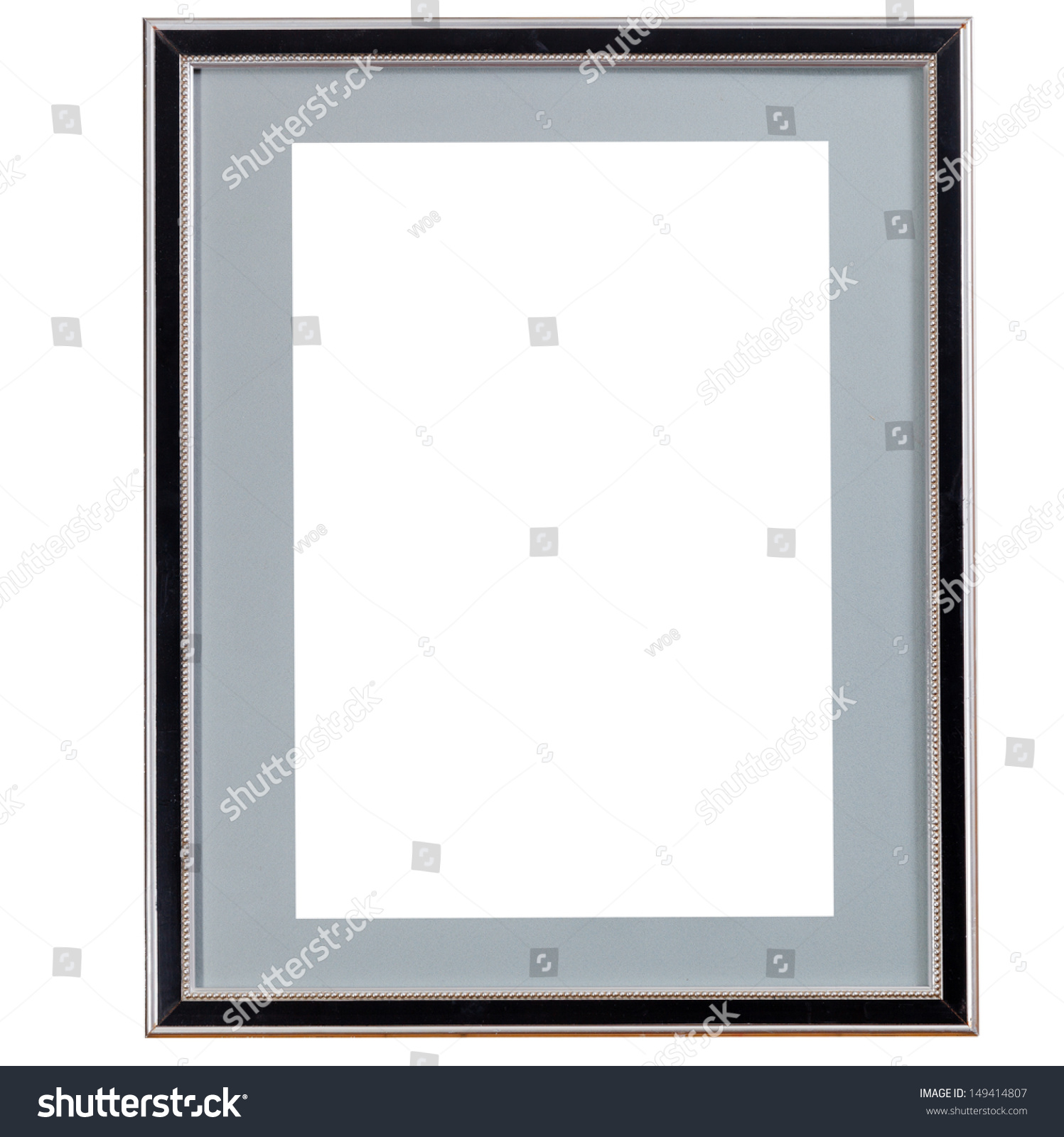 Black Picture Frames With White Matting Old Black Narrow