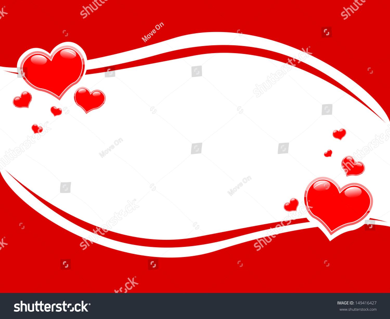 Festive Photo Frame Valentine Valentines Day Stock Vector 149416427 ...