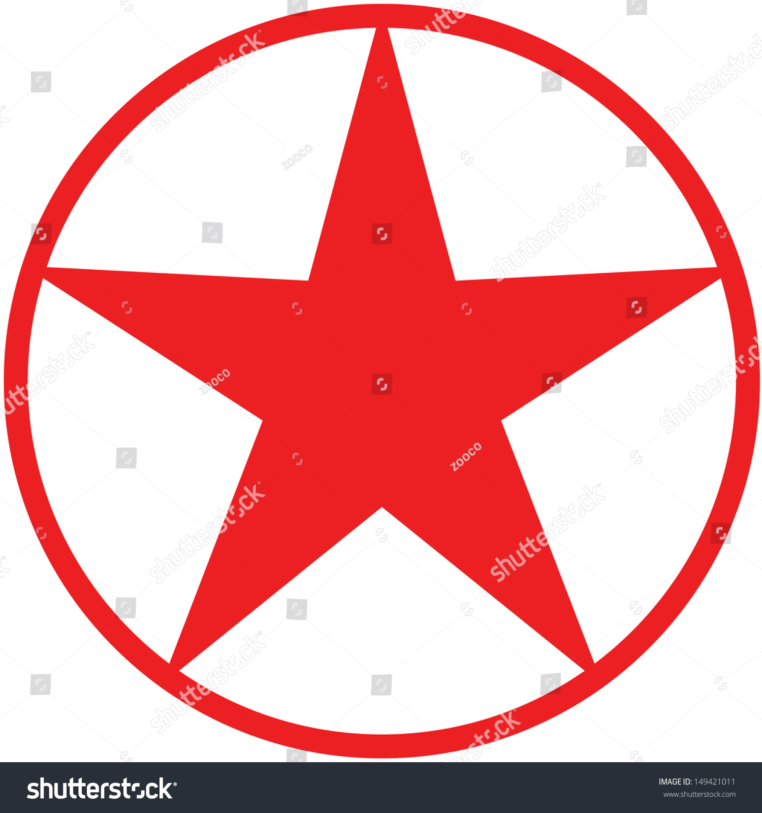 Red Christmas Fivepointed Star Avatar Presented Stock Vector
