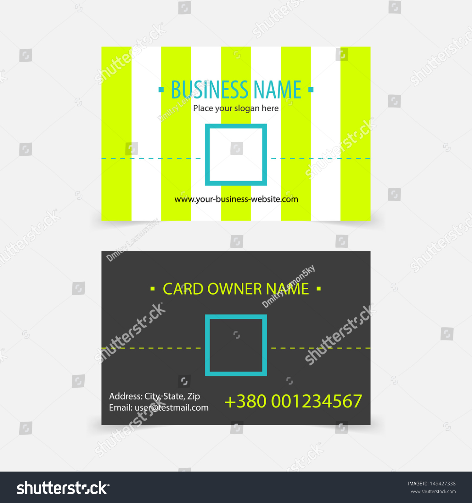 Abstract Light Green Stripes Business Cards Stock Vector 149427338 ...