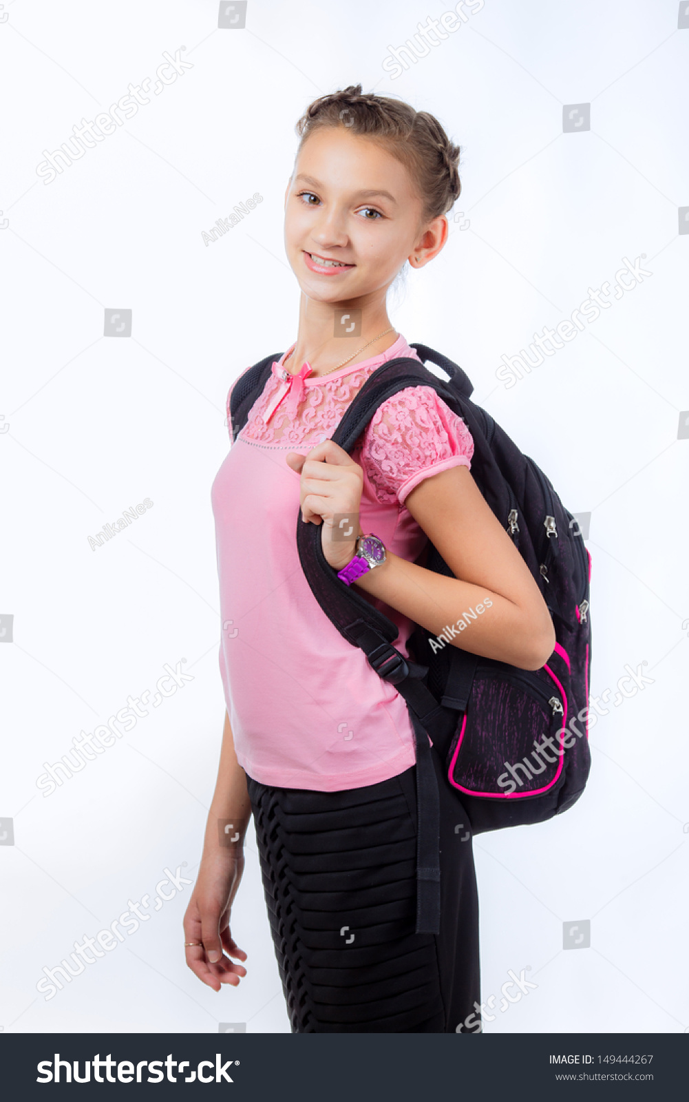 Young scool girl