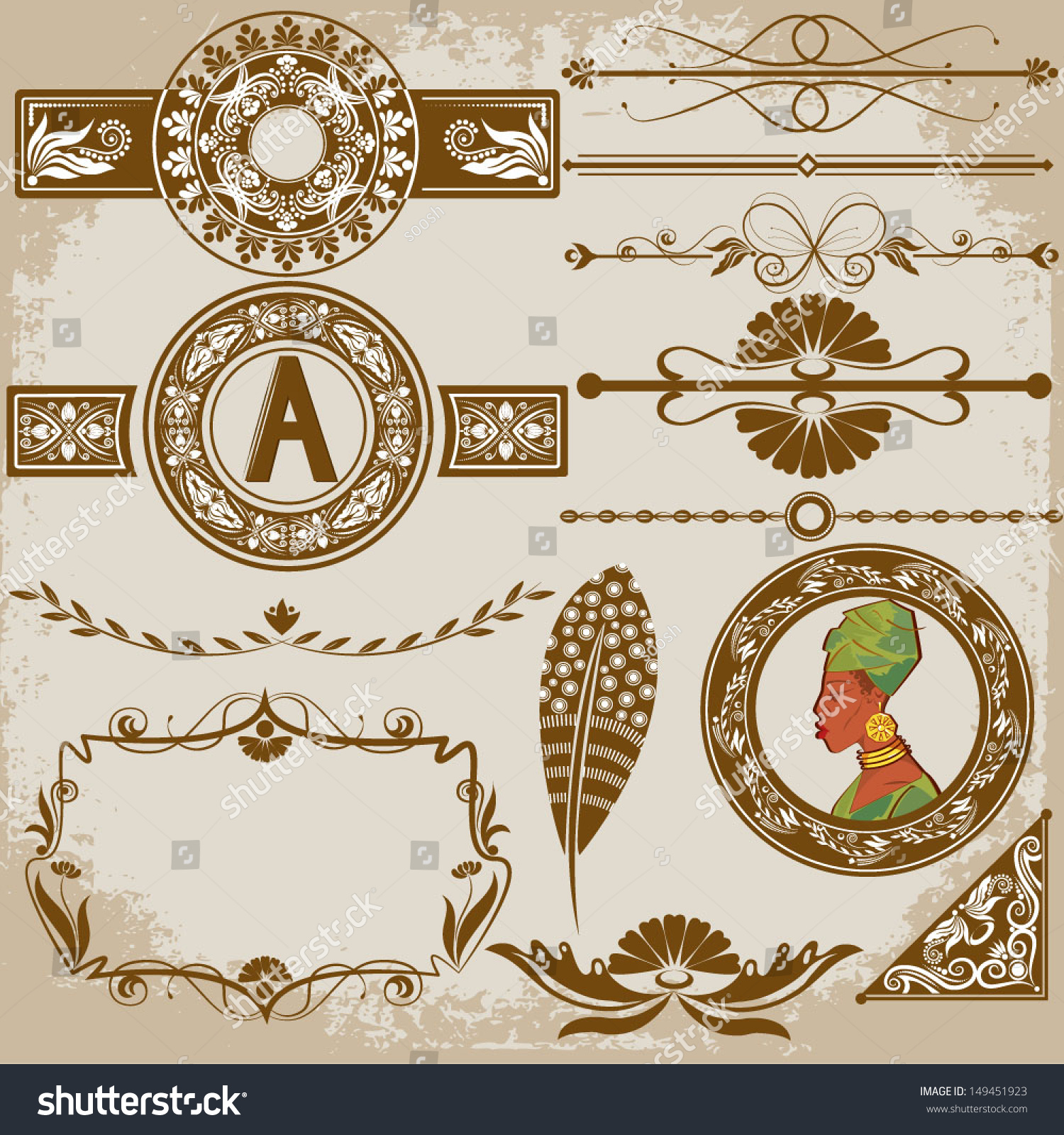 floral ornaments graphic design vector | YayImages.com