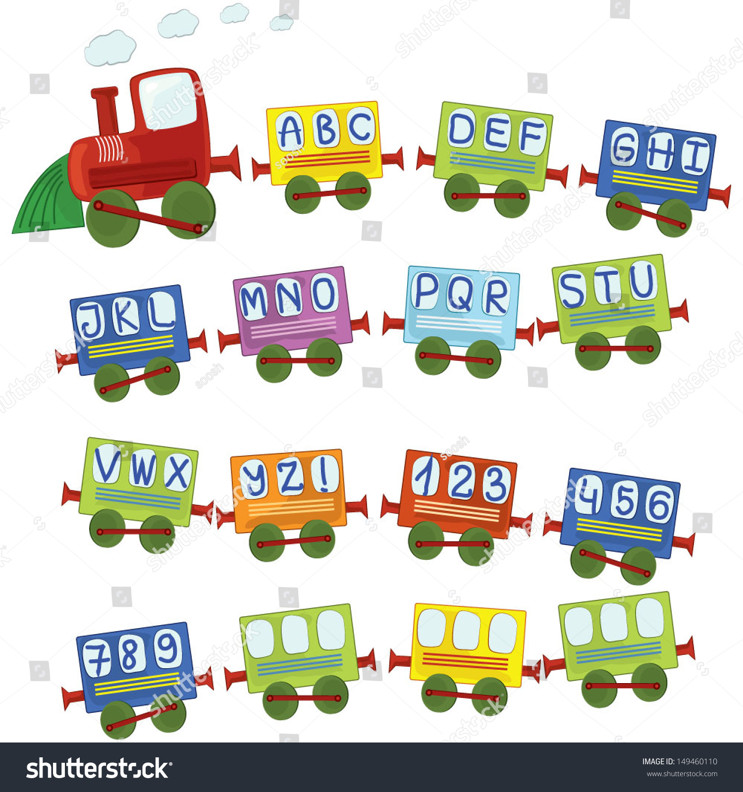 Modes Of Transport With  Letters