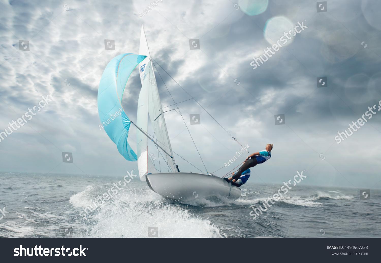 Sailing yacht race. Yachting. Sailing regatta.  #1494907223