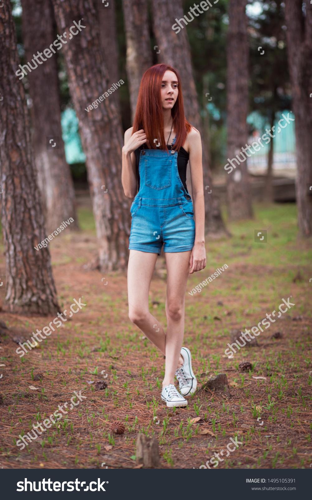 Skinny Redhead Girl Brazilian Forest Stock Photo Edit Now 1495105391