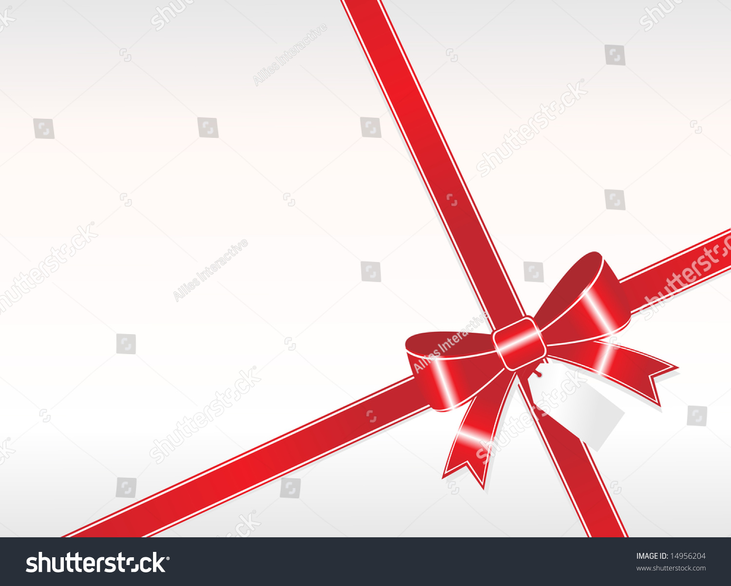 Simple Red Ribbon Tag On White Stock Vector 14956204 - Shutterstock for Simple White And Red Wallpaper Designs  54lyp