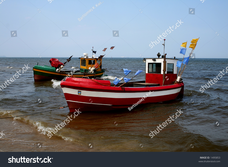 Small Baltic Fishing Boats On Sopot Stock Photo 1495853 ...