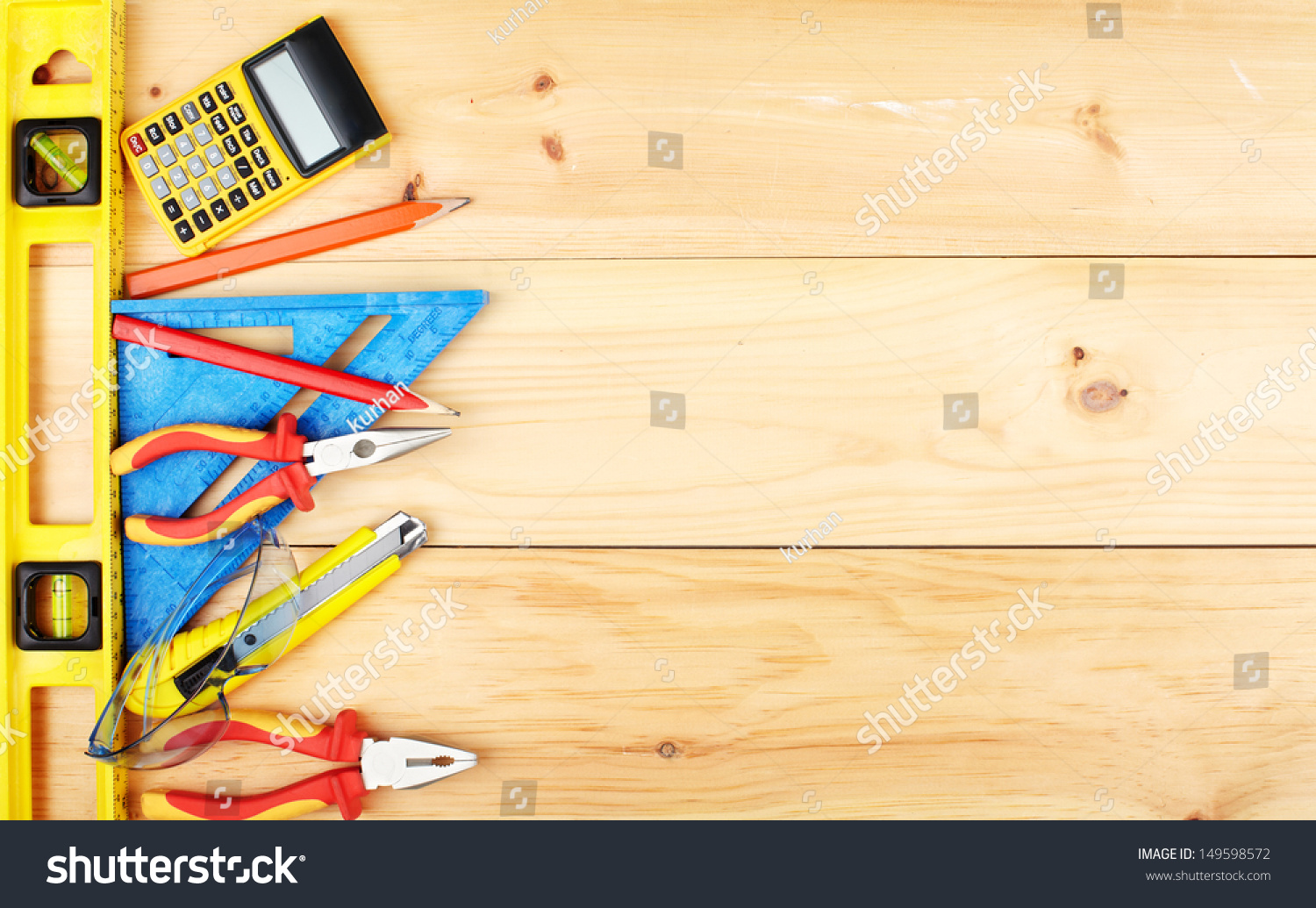 Construction Tools Home House Renovation Concept Stock ...
