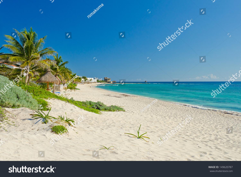 caribbean ocean lagoon beach luxury mexican stock photo. Black Bedroom Furniture Sets. Home Design Ideas